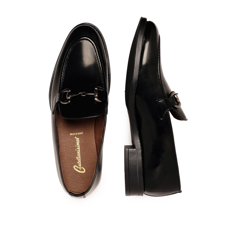 Castellanisimos Leather Black Moccasin Men