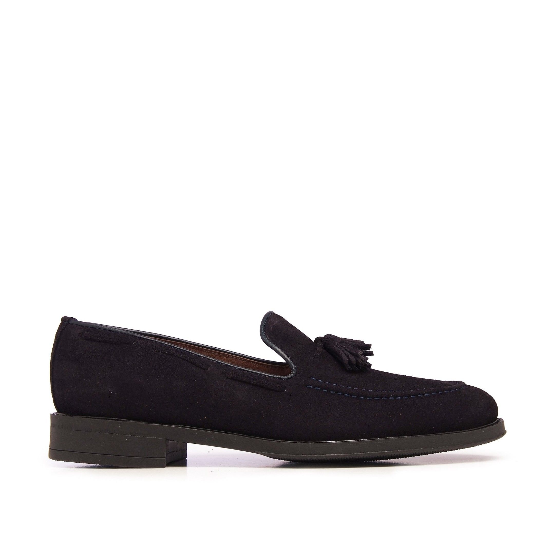 Castellanisimos Leather Moccasin Tassel Navy Blue Loafers Classic Shoes