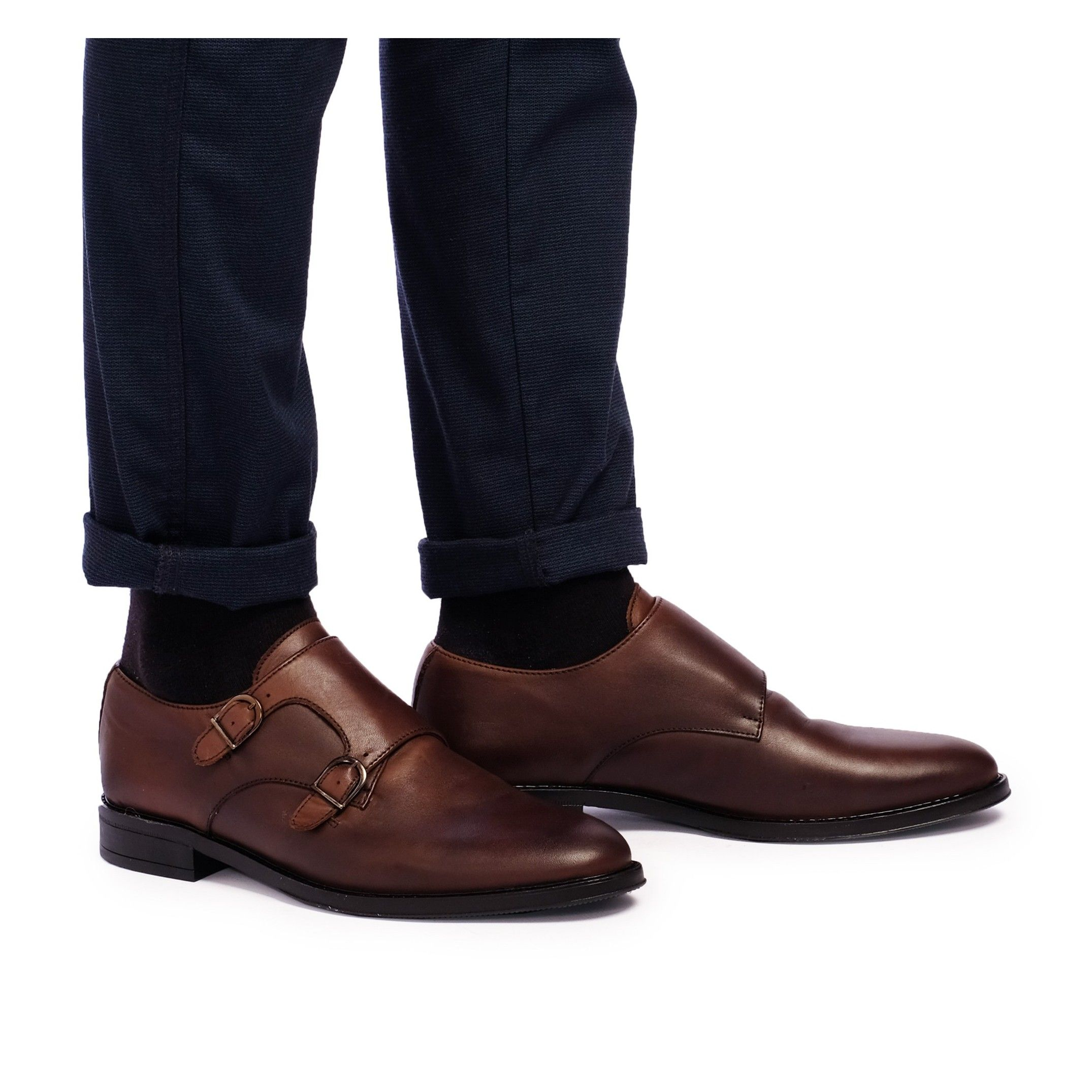 Castellanisimos Monk Men Leather Shoe Brown