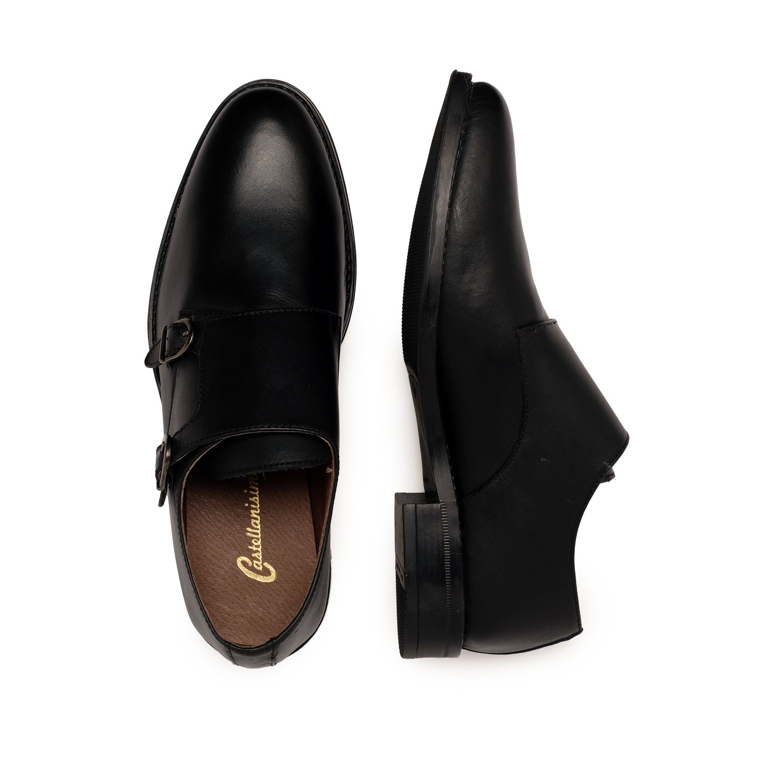 Castellanisimos Monk Men Leather Shoe Black