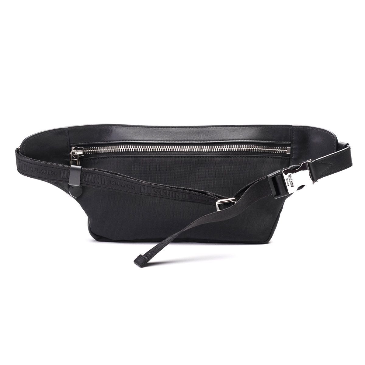 MOSCHINO MEN'S 770382012555 BLACK POLYESTER BELT BAG