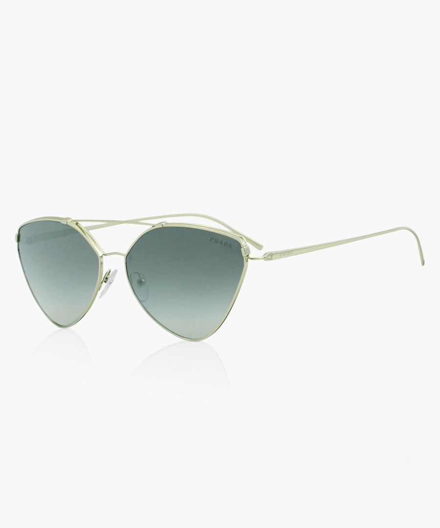 Gold-tone triangular sunglasses