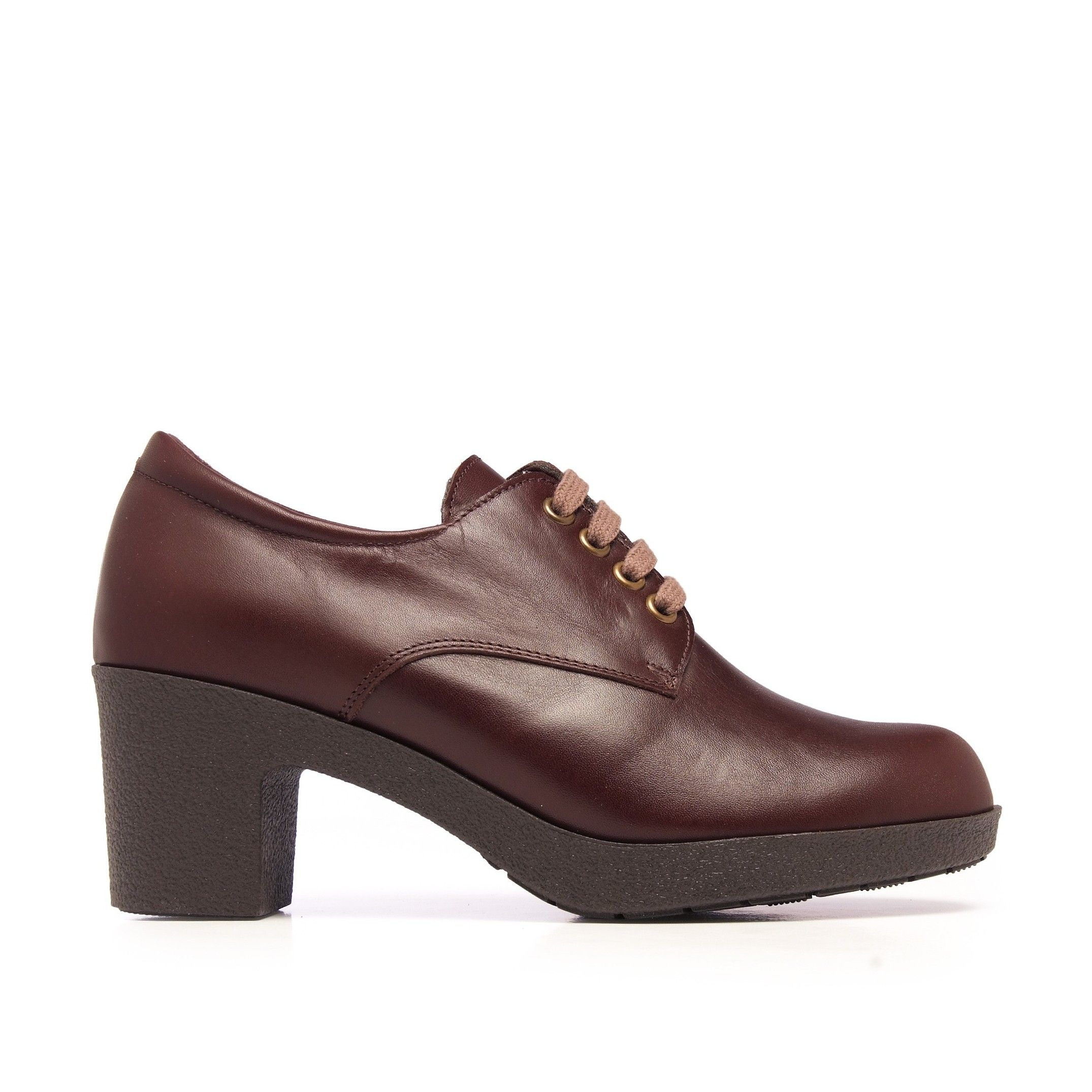 Castellanisimos Leather Women Brown Blucher Shoes Laces