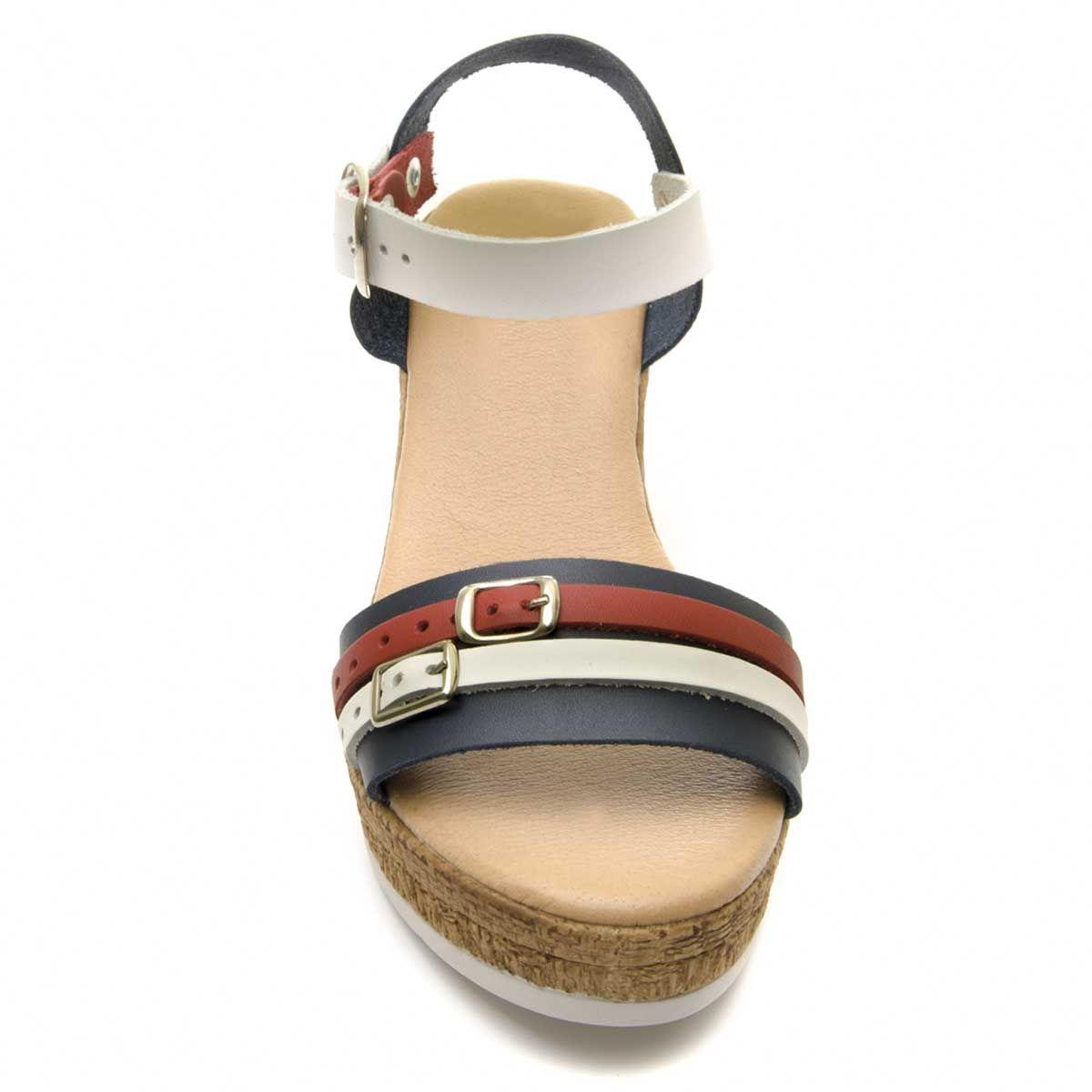 Purapiel Wedge Sandal in Multicolour