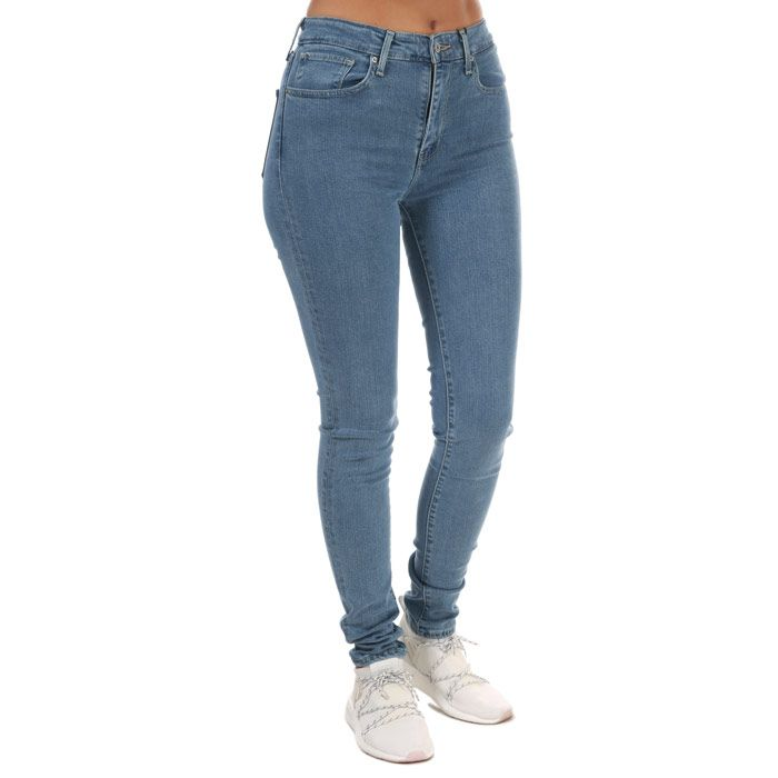 Women's Levis 721 High Rise Skinny Jeans Light Blue 25Sin Light Blue
