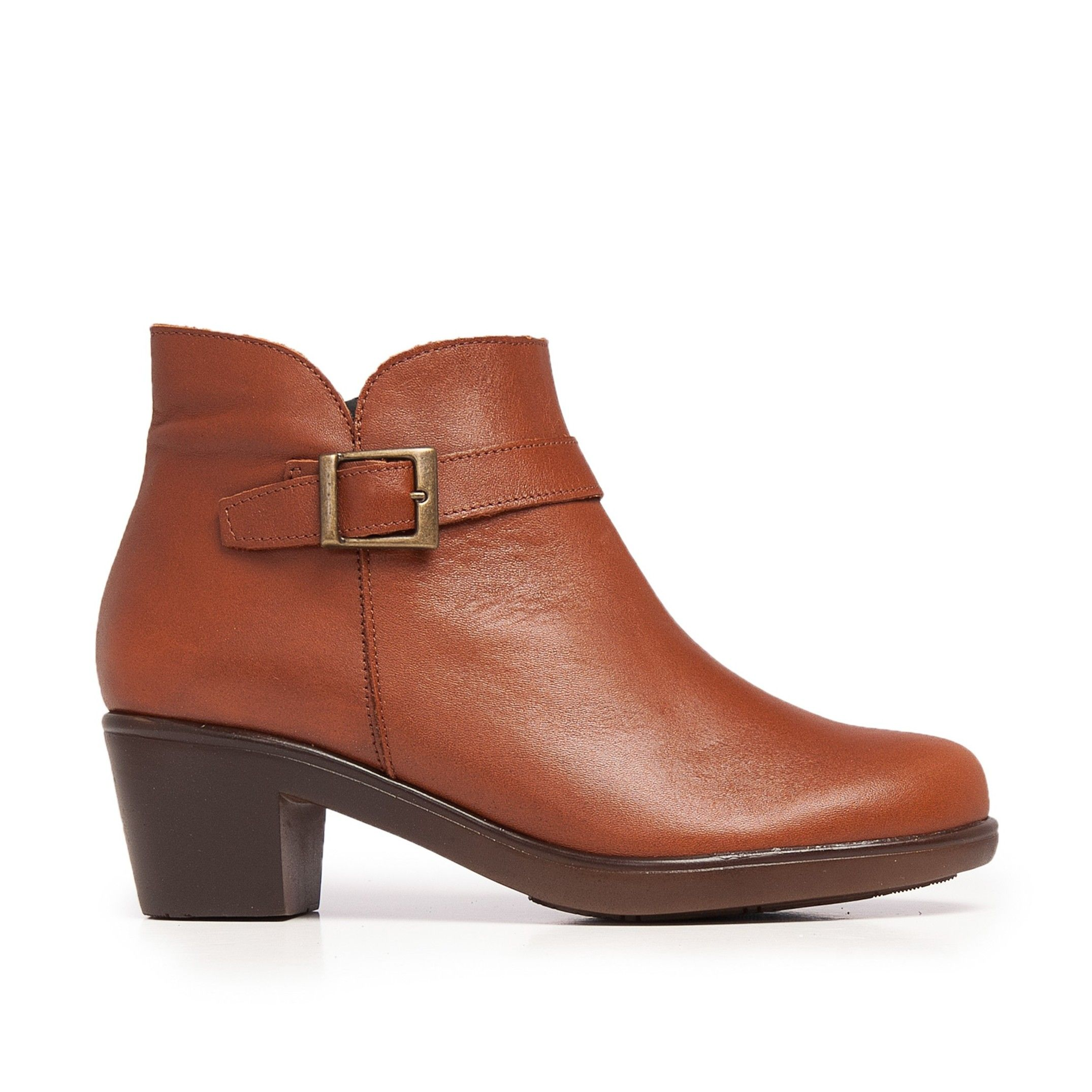 Castellanisimos Leather Ankle Cuir Boot Women Winter Shoes