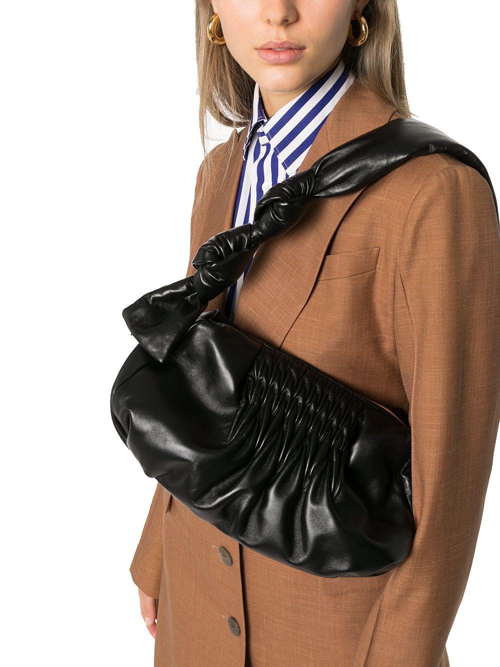 MIU MIU WOMEN'S 5BF0972C9PF0002 BLACK LEATHER SHOULDER BAG