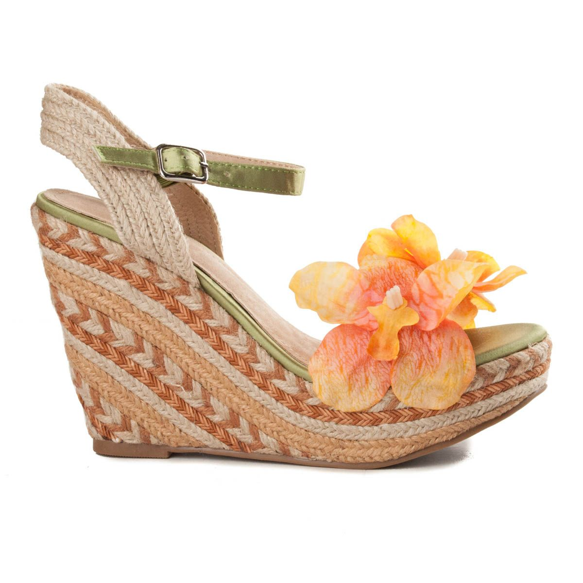 Maria Graor Ankle Strap Wedge Espadrille in Pink