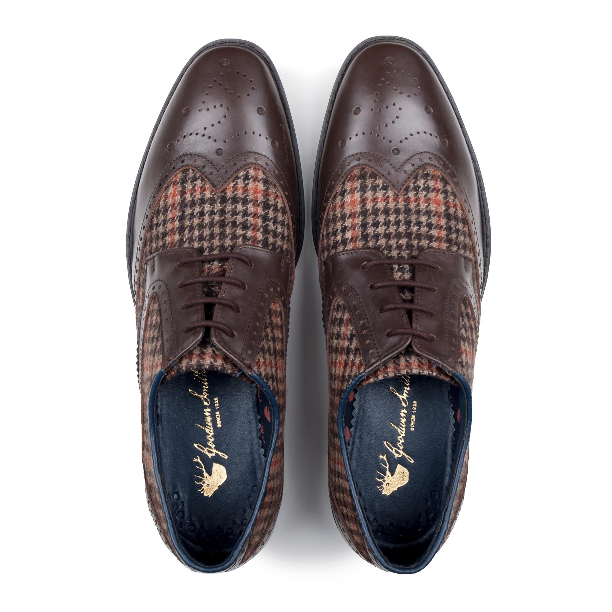 Goodwin Smith Newchurch Brown Houndtooth Derby
