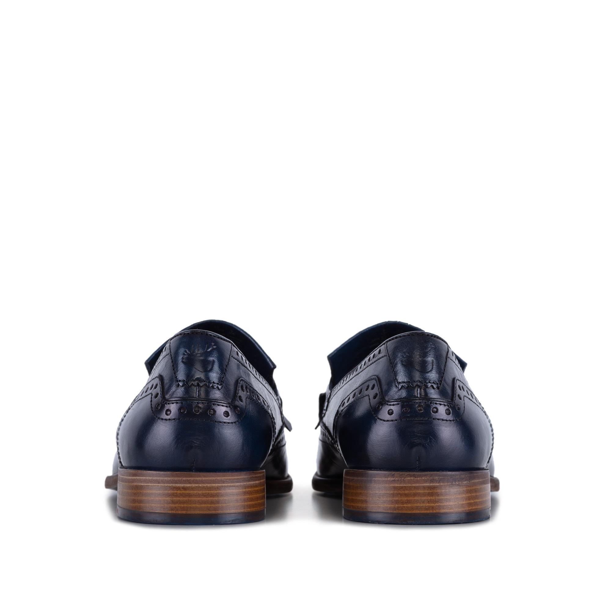 Goodwin Smith Mens Gs Sebastian Navy Fringe Loafer