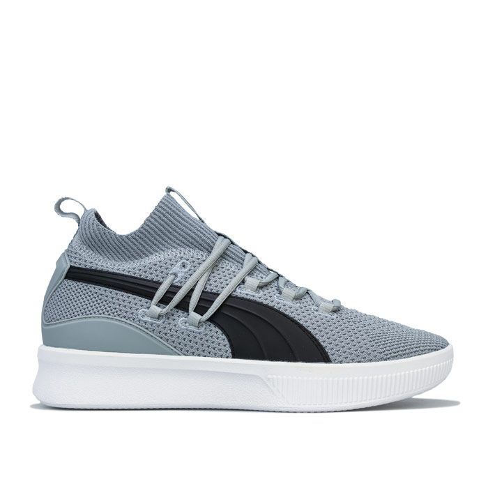 Men's Puma Clyde Court Basketball trainers in Grey black