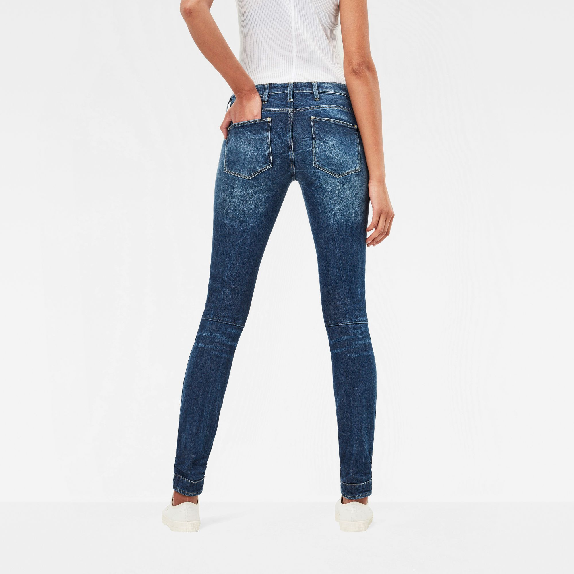 G-Star RAW 5620 G-Star Elwood Mid Waist Skinny Jeans