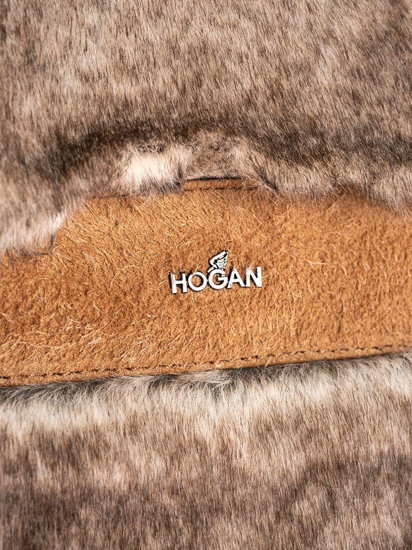 HOGAN WOMEN'S GCW00SA1500MPY7A08 BEIGE POLYAMIDE TRAVEL BAG