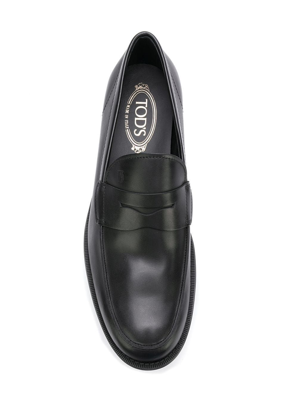TOD'S MEN'S XXM0UD00640D90B999 BLACK LEATHER LOAFERS