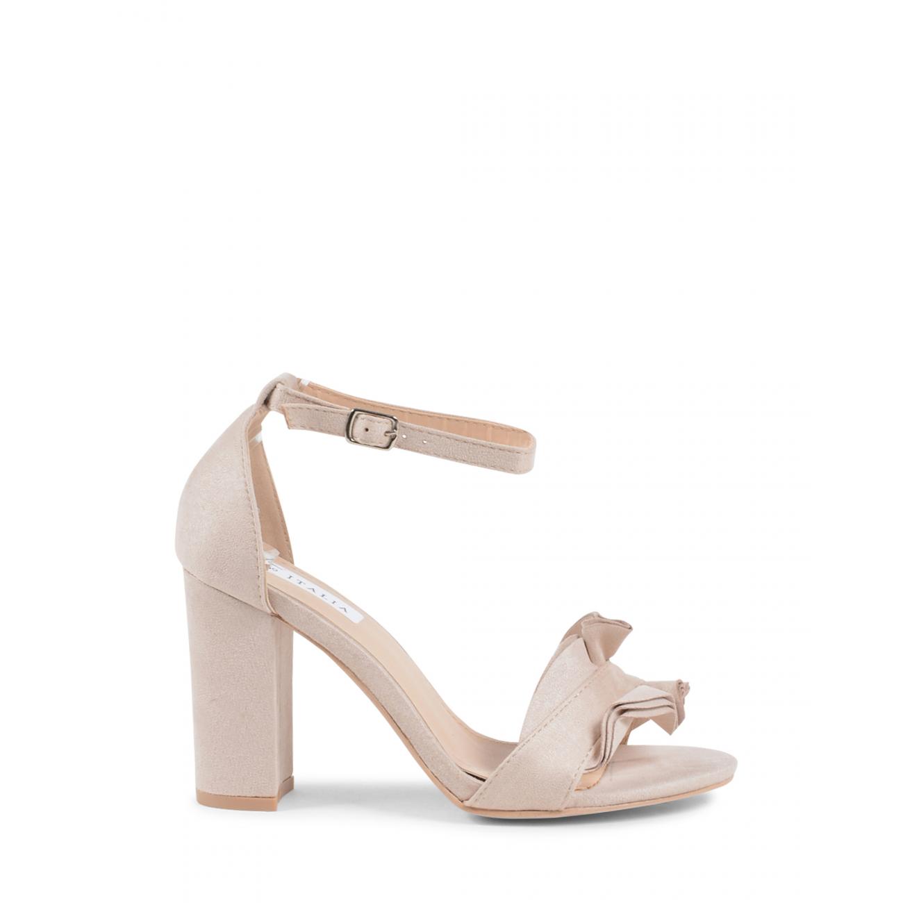 19V69 Italia Women's Ankle Strap Sandal Beige V162 BEIGE