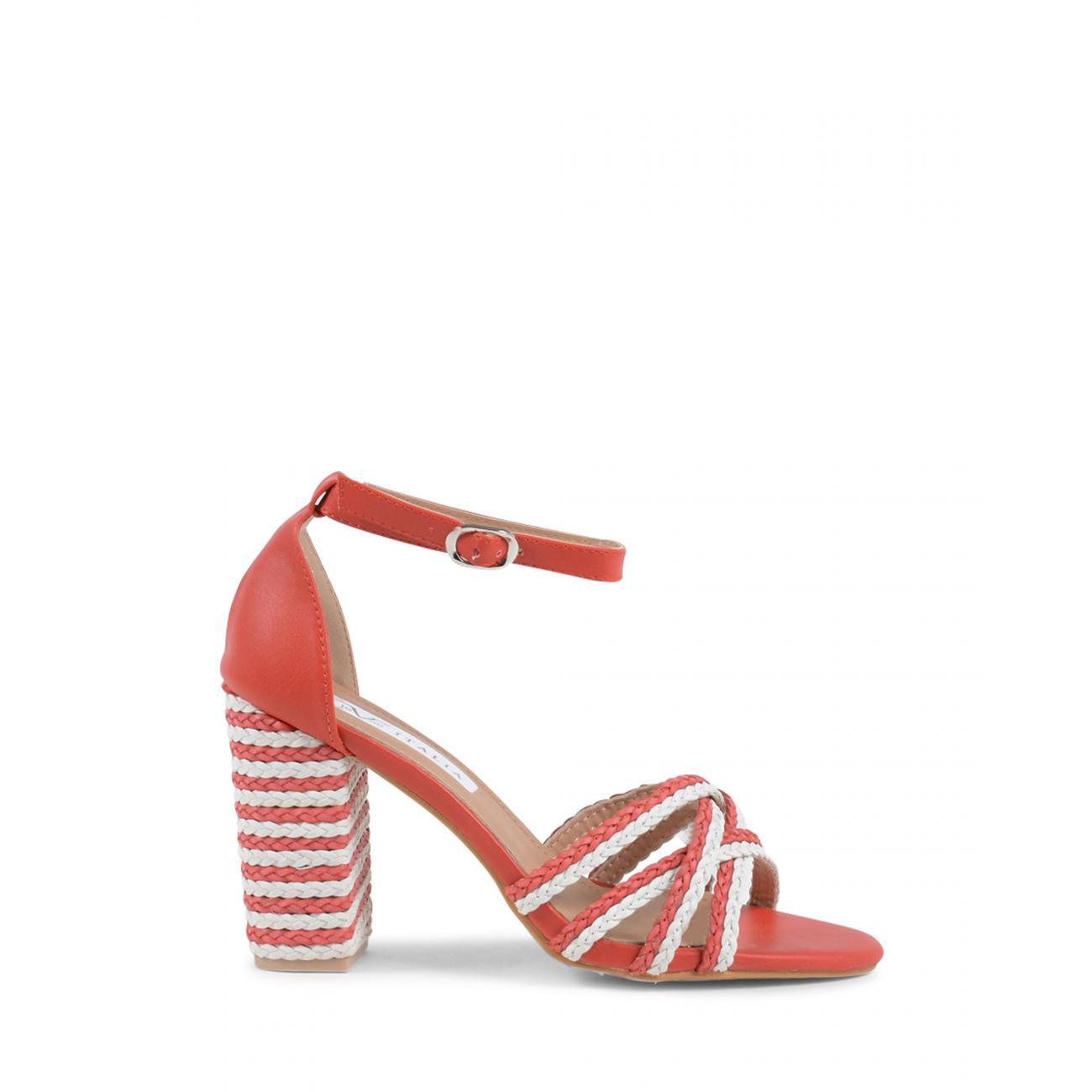 19V69 Italia Women's Ankle Strap Sandal Red V01 RED
