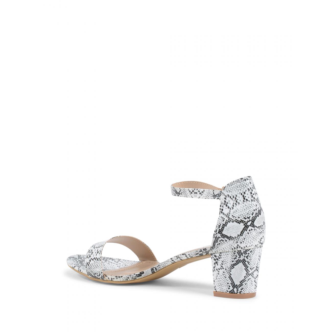 19V69 Italia Women's Ankle Strap Sandal White V173 WHITE
