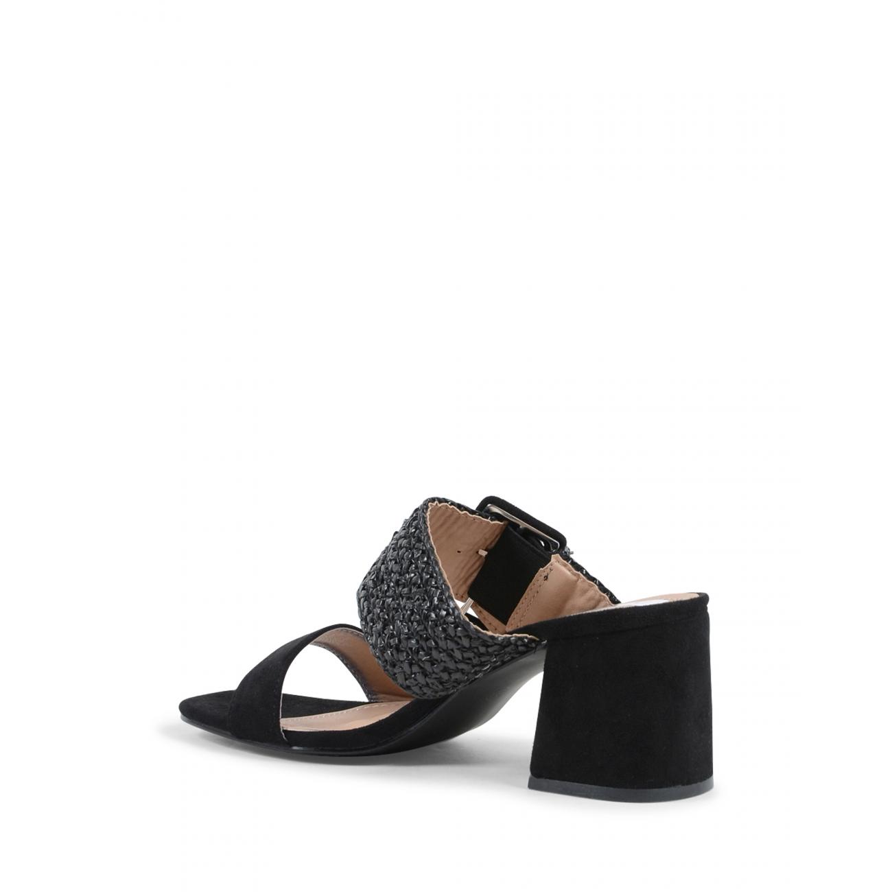 19V69 Italia Women's Mule Sandal Black V20 BLACK