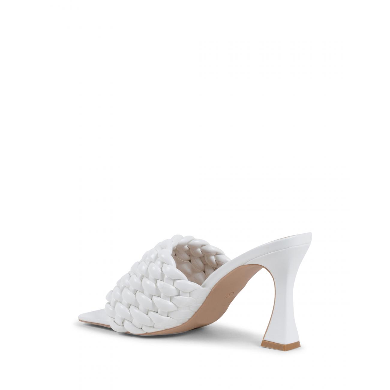 19V69 Italia Women's Mule Sandal White V8185 WHITE