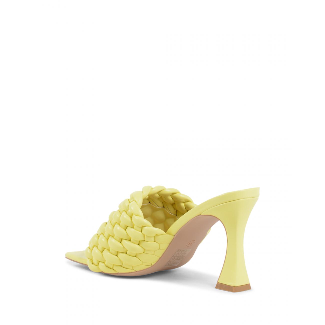 19V69 Italia Women's Mule Sandal Yellow V8185 YELLOW