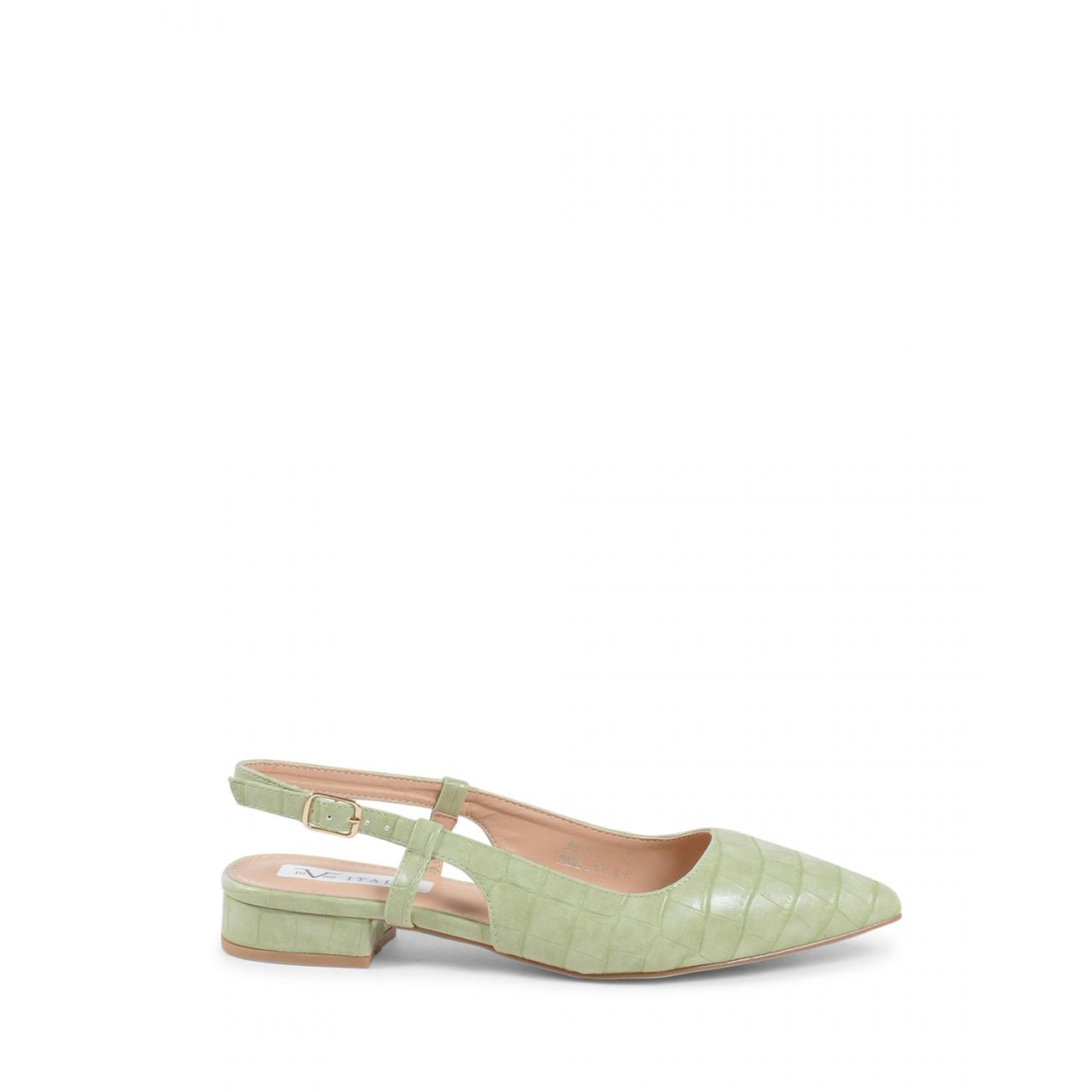 19V69 Italia Women's Slingback Ballerina Green V81831 GREEN