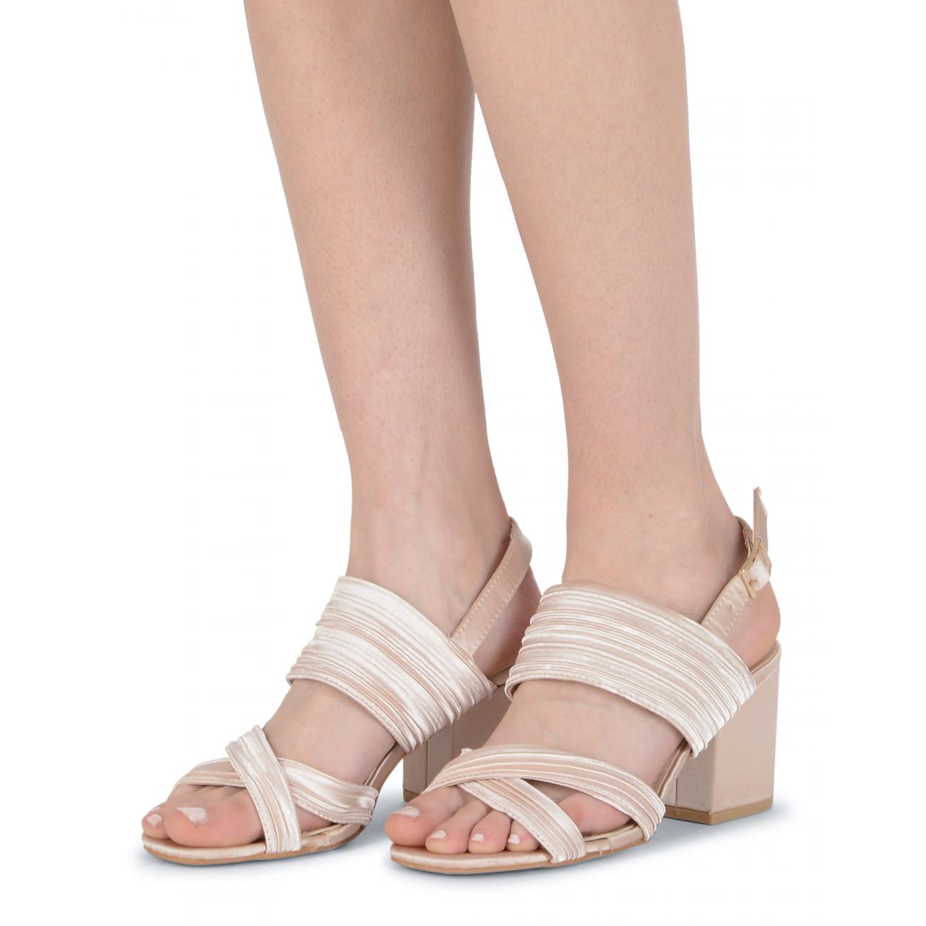 19V69 Italia Women's Slingback Sandal Beige V31 BEIGE