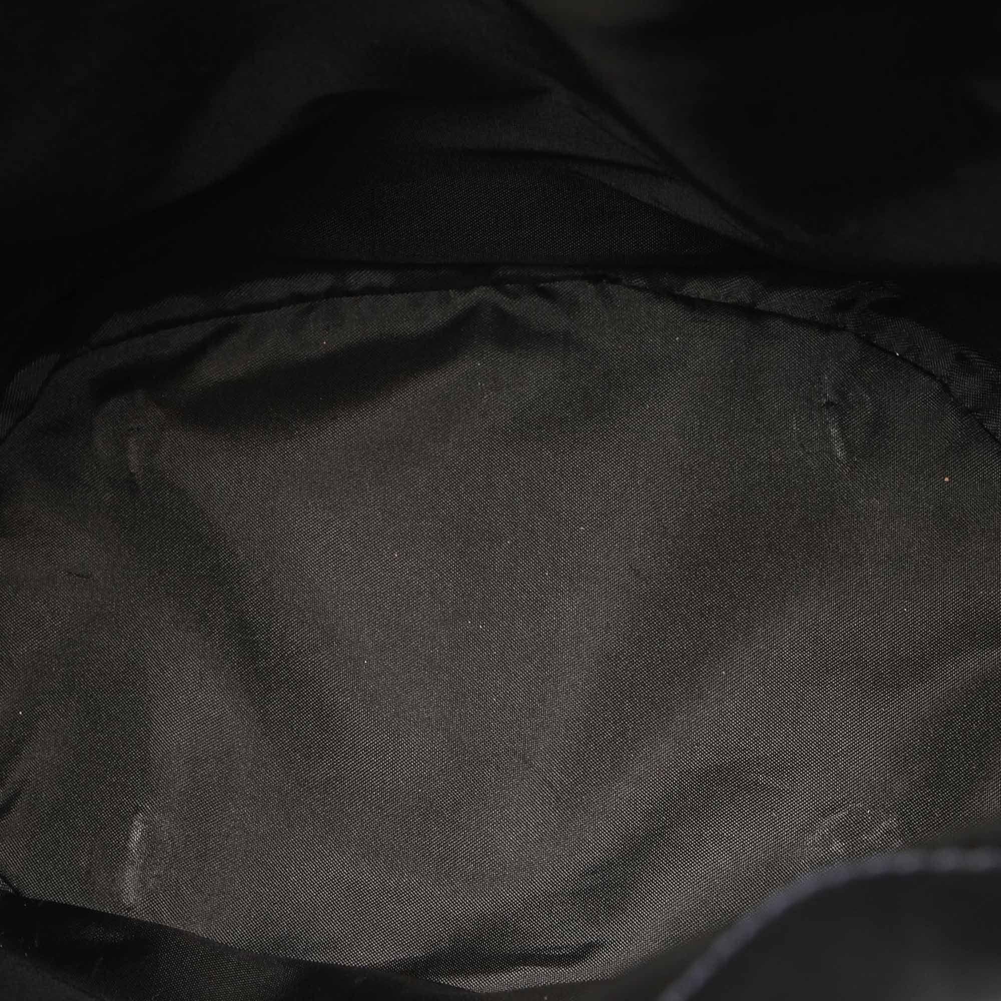 Vintage Burberry Smoke Check Coated Canvas Shoulder Bag Black