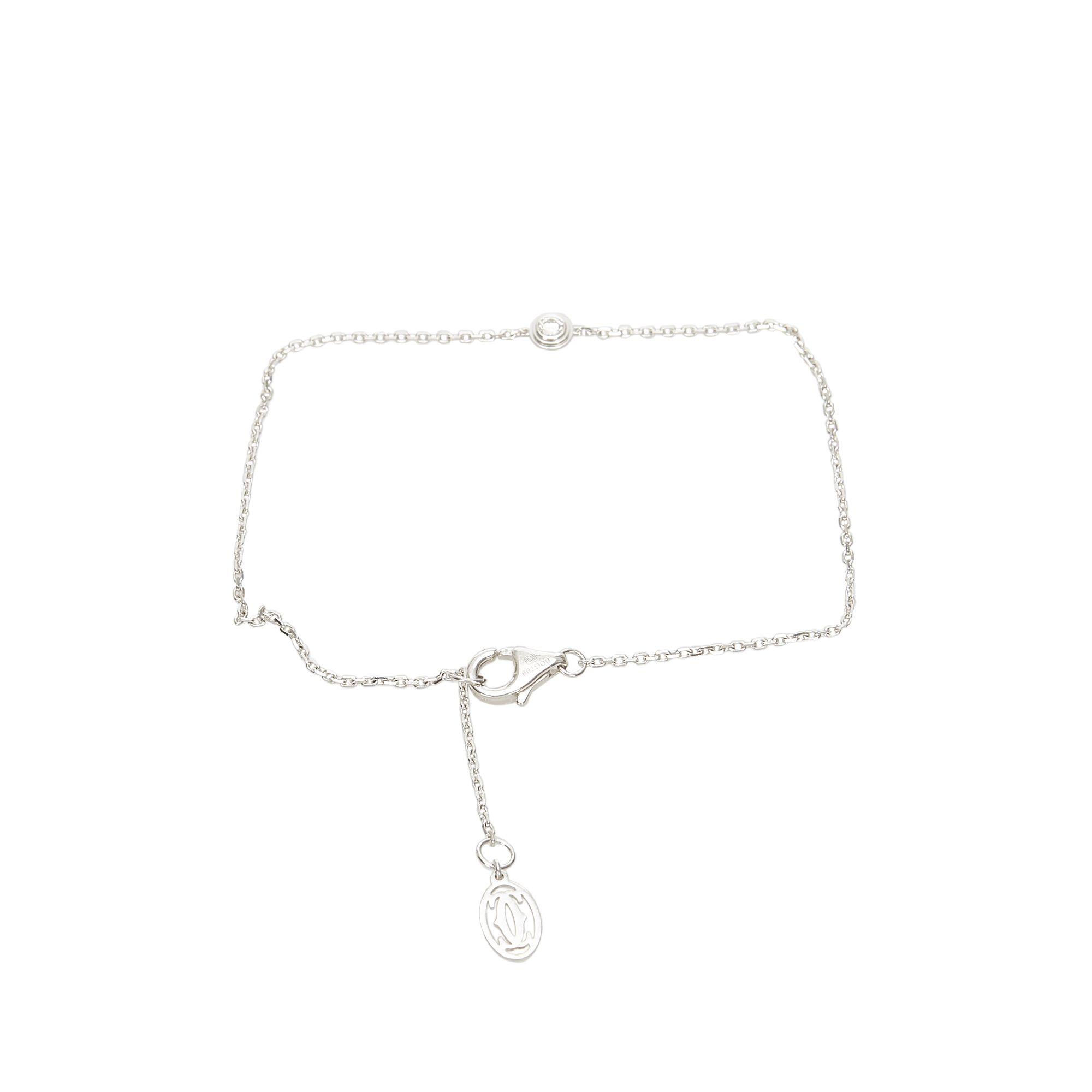 Vintage Cartier Diamants Legers Bracelet Silver