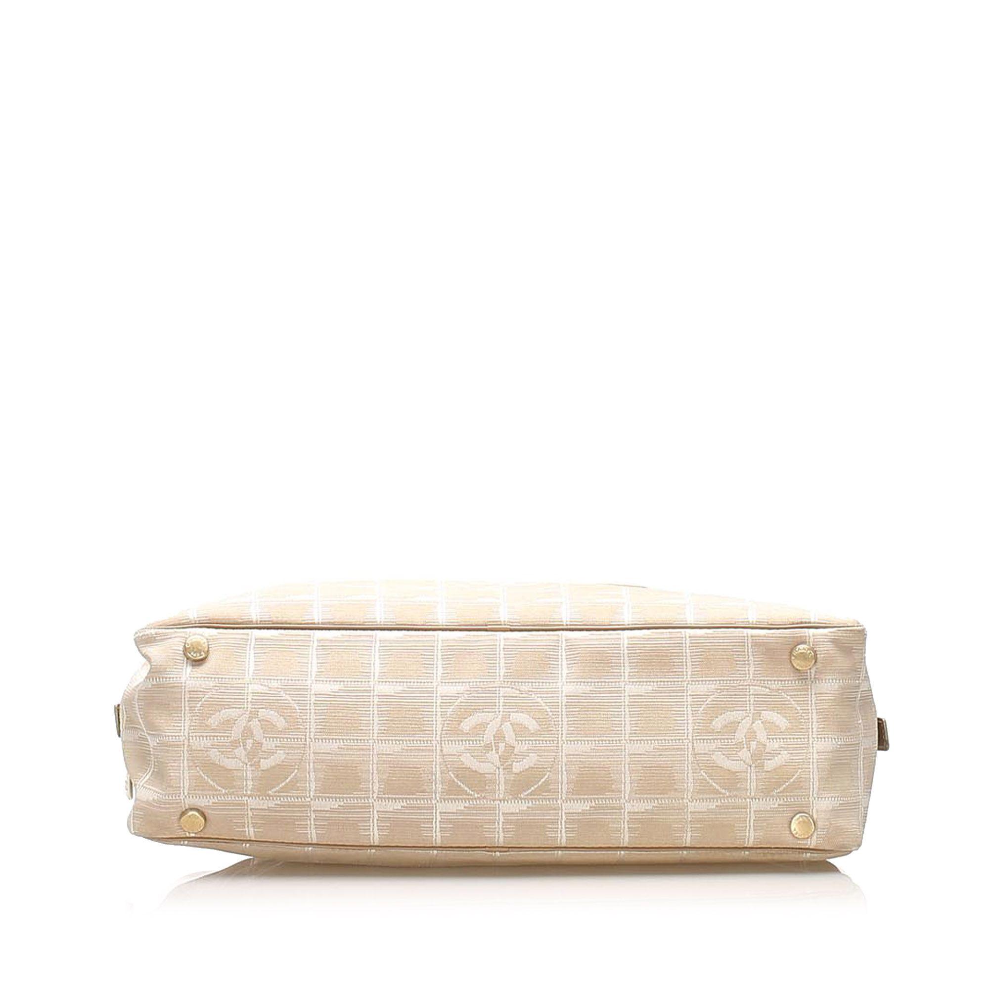 Vintage Chanel New Travel Line Canvas Handbag Brown
