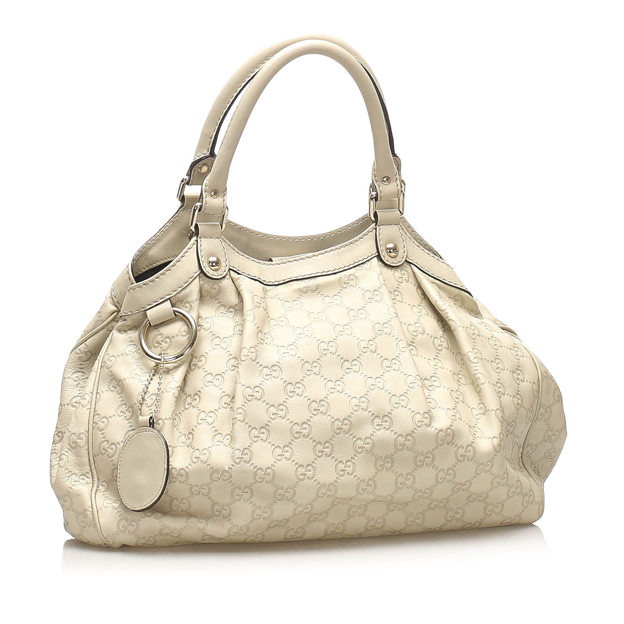 Vintage Gucci Guccissima Sukey Tote Bag Brown