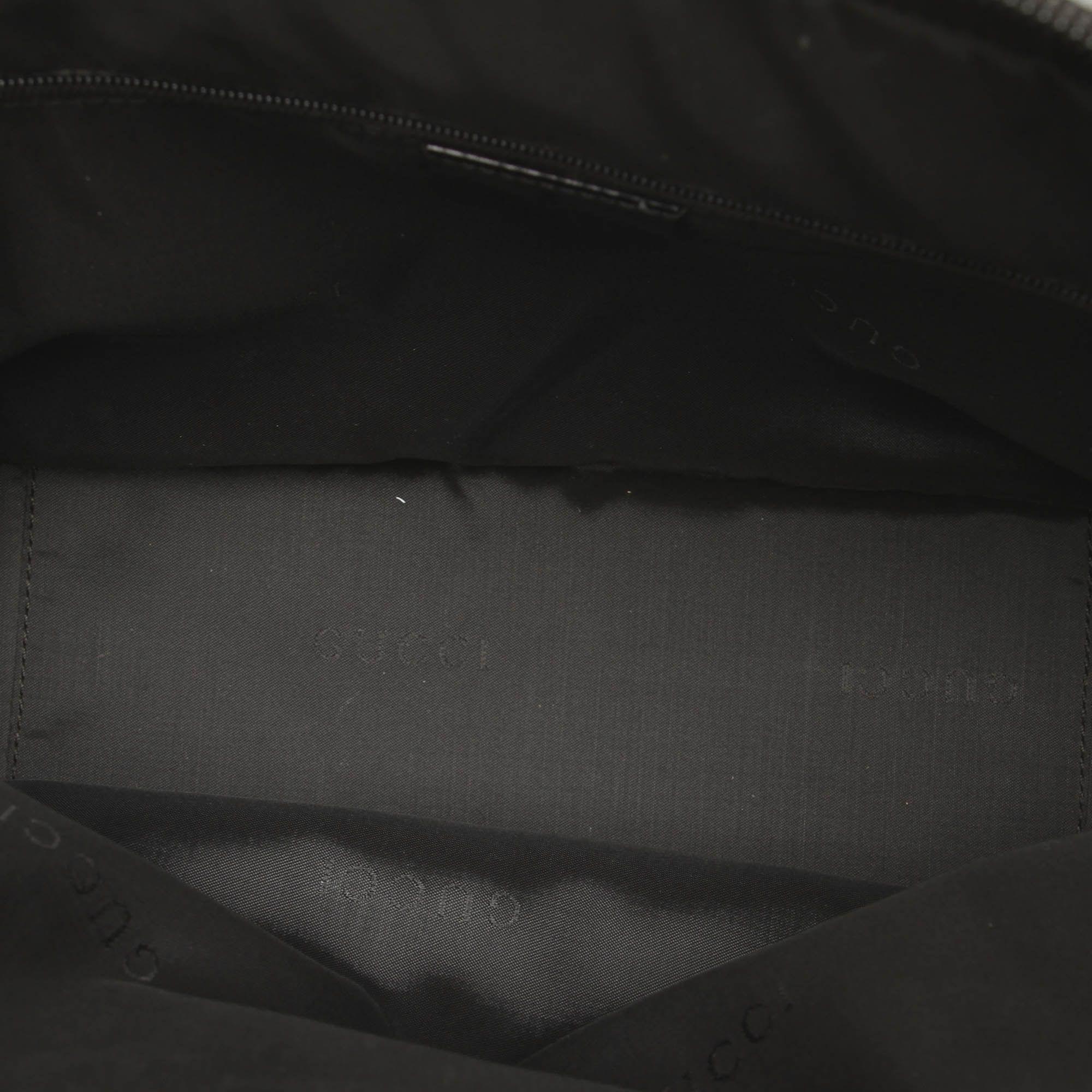 Vintage Gucci Bamboo Nylon Handbag Black