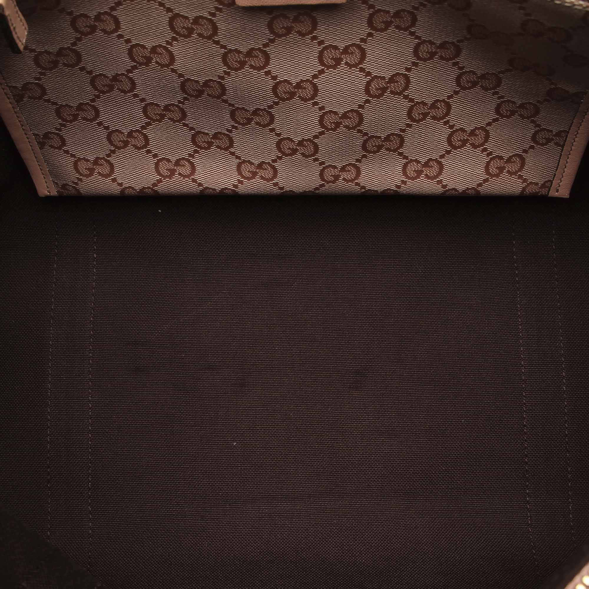 Vintage Gucci GG Crystal Abbey Tote Bag Brown