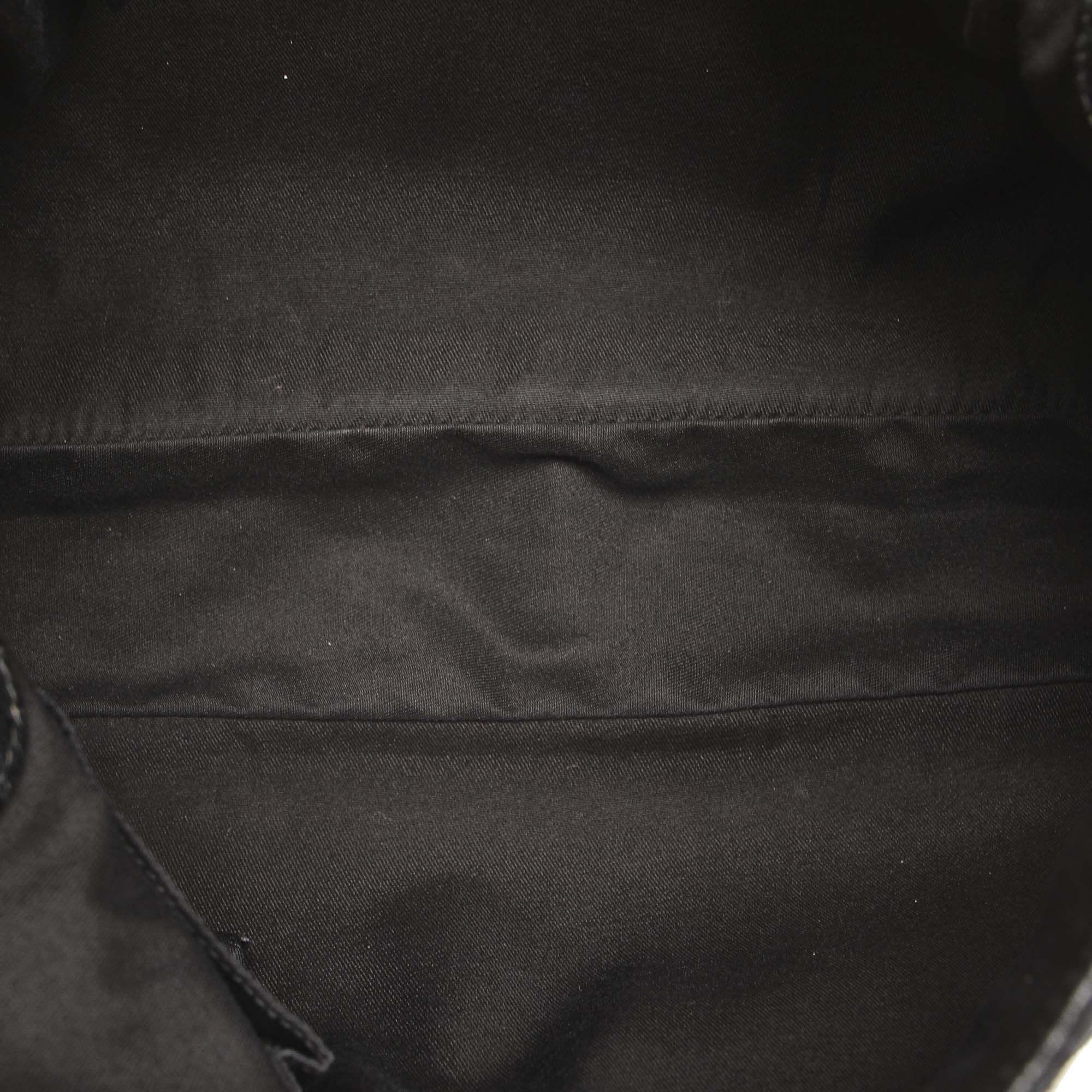 Vintage Gucci GG Canvas Eclipse Shoulder Bag Black
