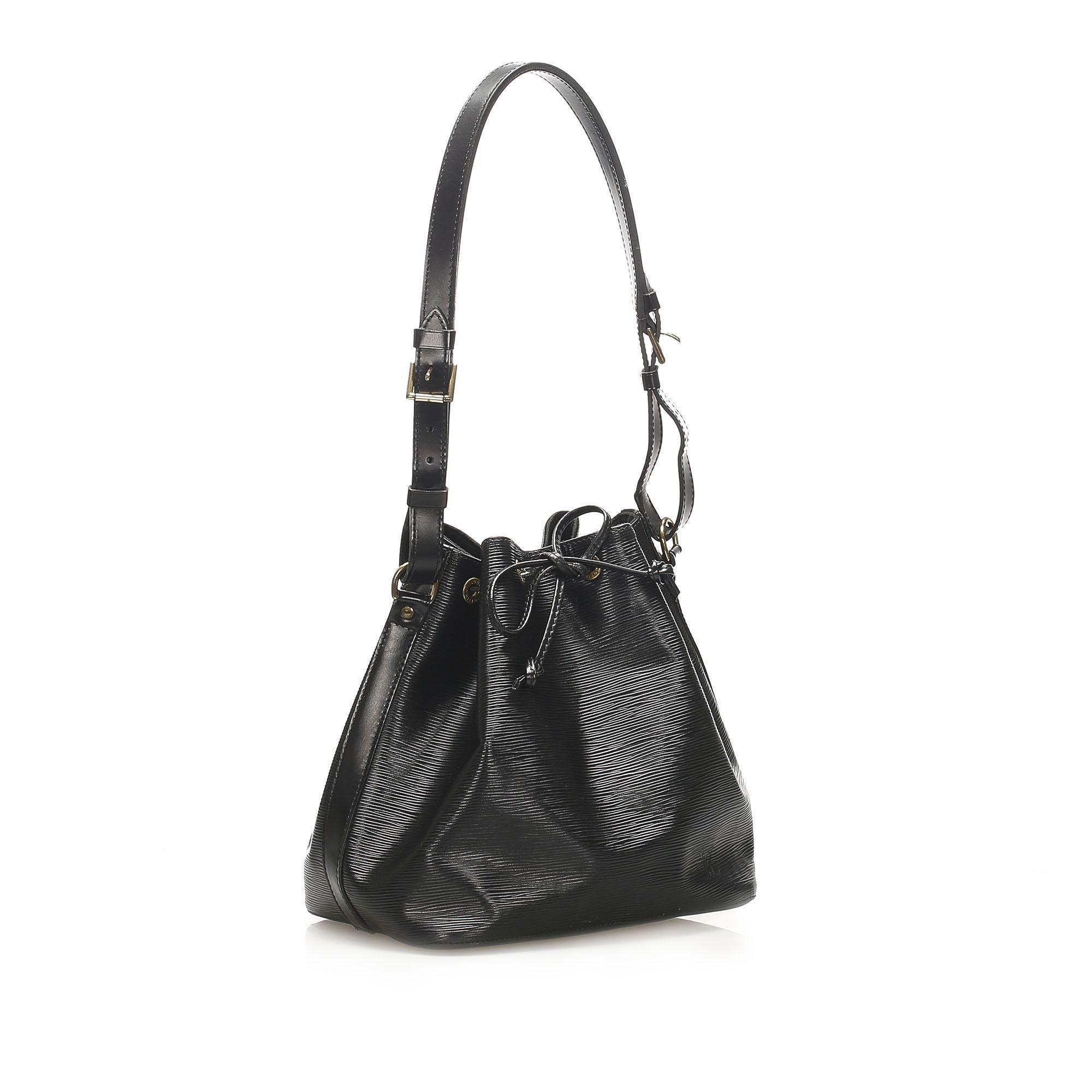 Vintage Louis Vuitton Epi Petit Noe Black
