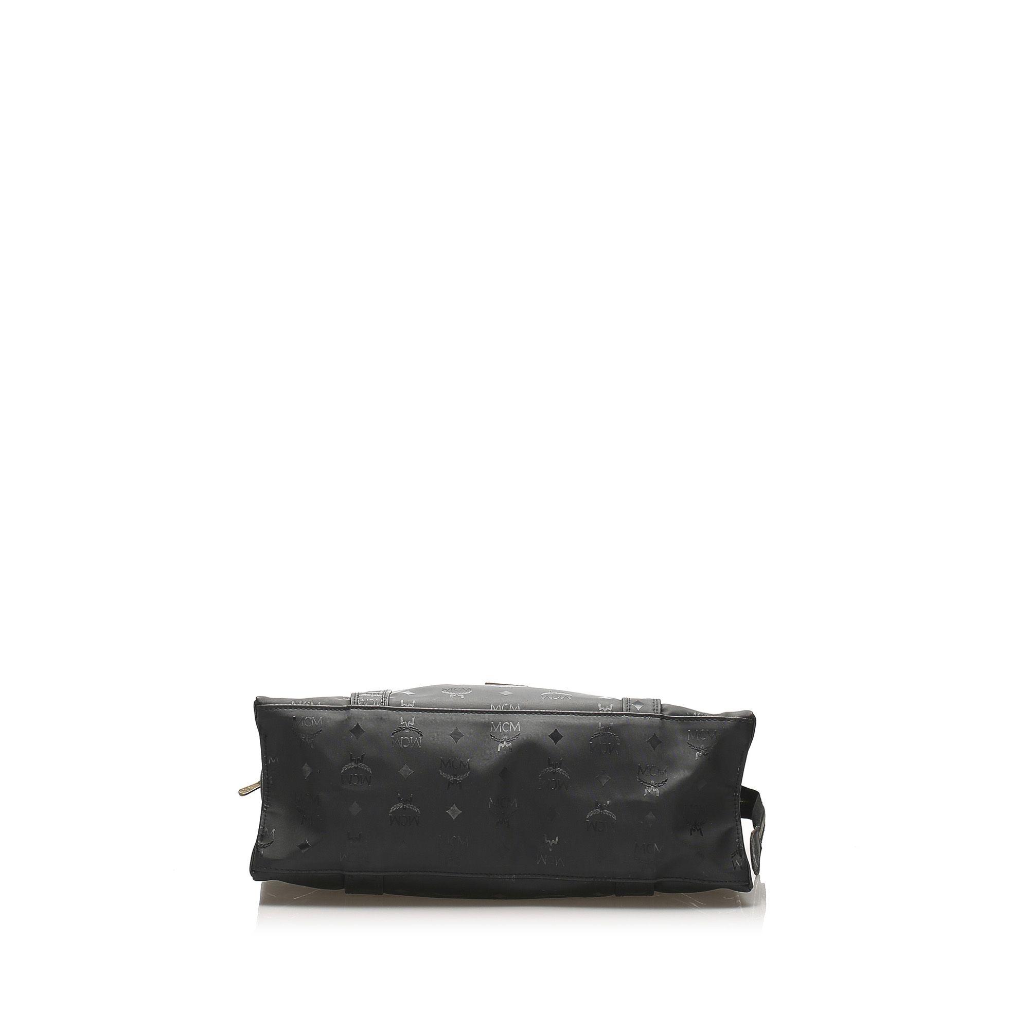 Vintage MCM Visetos Shoulder Bag Black