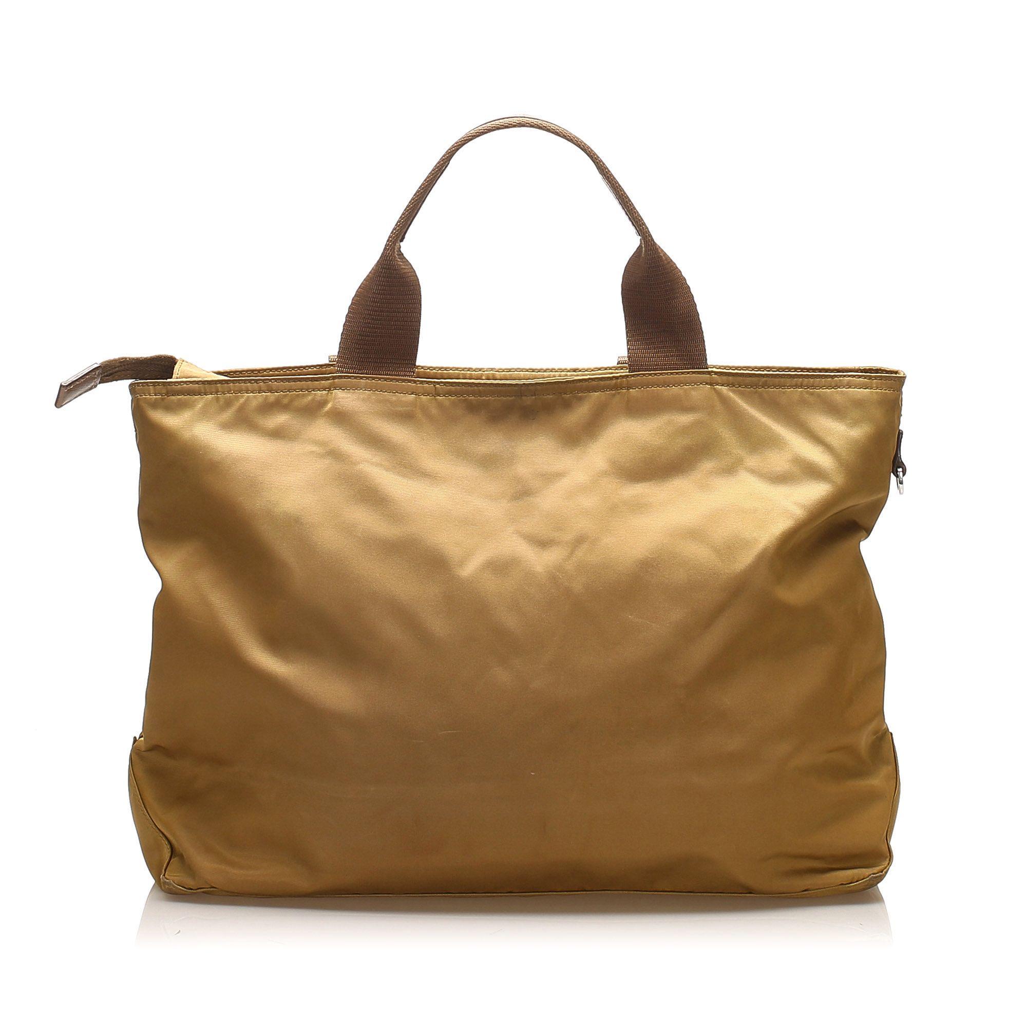 Vintage Prada Tessuto Handbag Brown