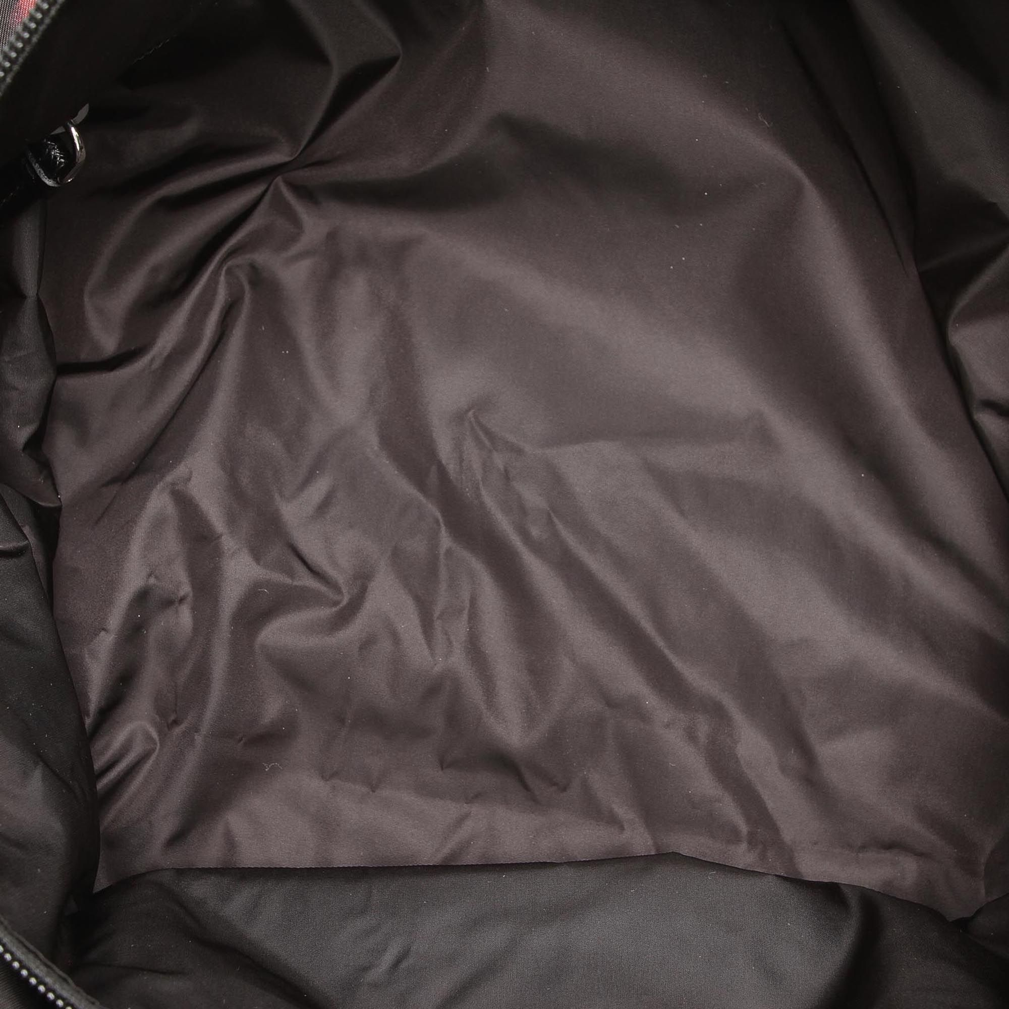 Vintage Prada Tessuto Stampato Tote Bag Black