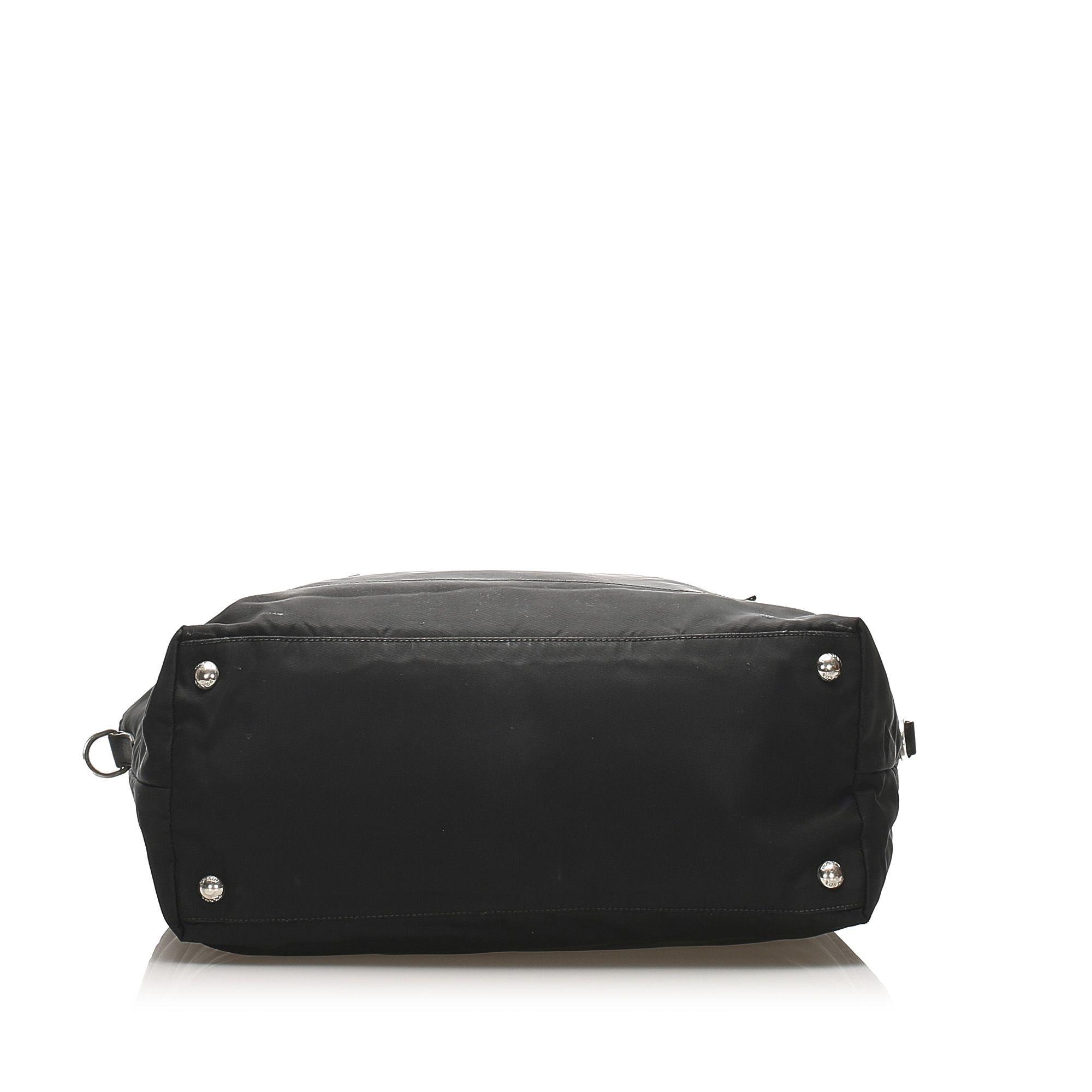 Vintage Prada Tessuto Tote Bag Black