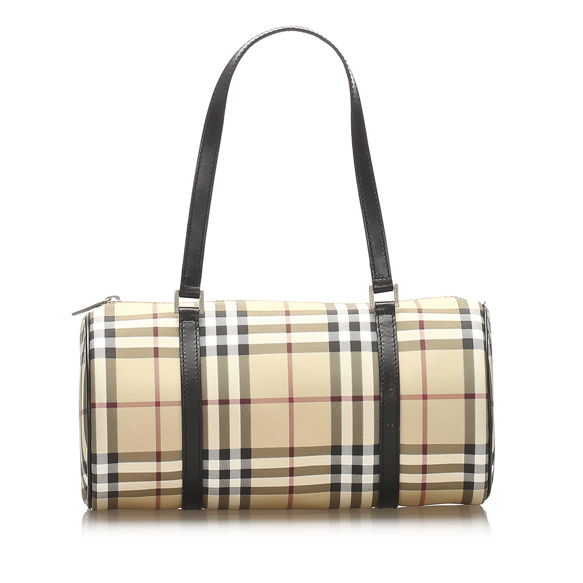 Vintage Burberry House Check Handbag Brown