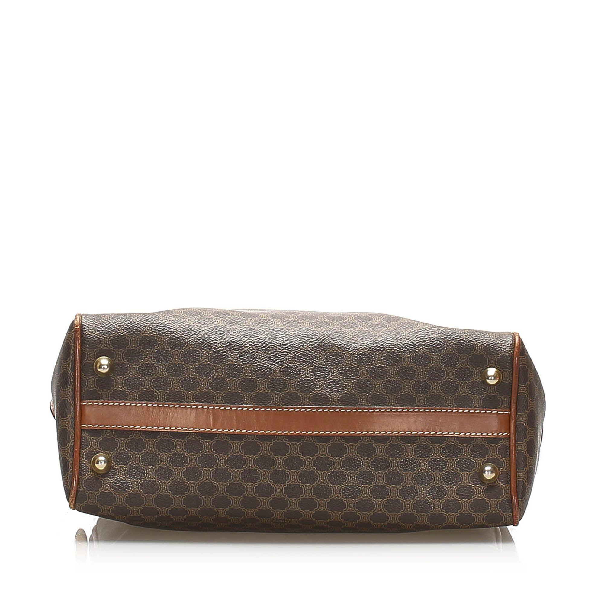 Vintage Celine Macadam Handbag Brown
