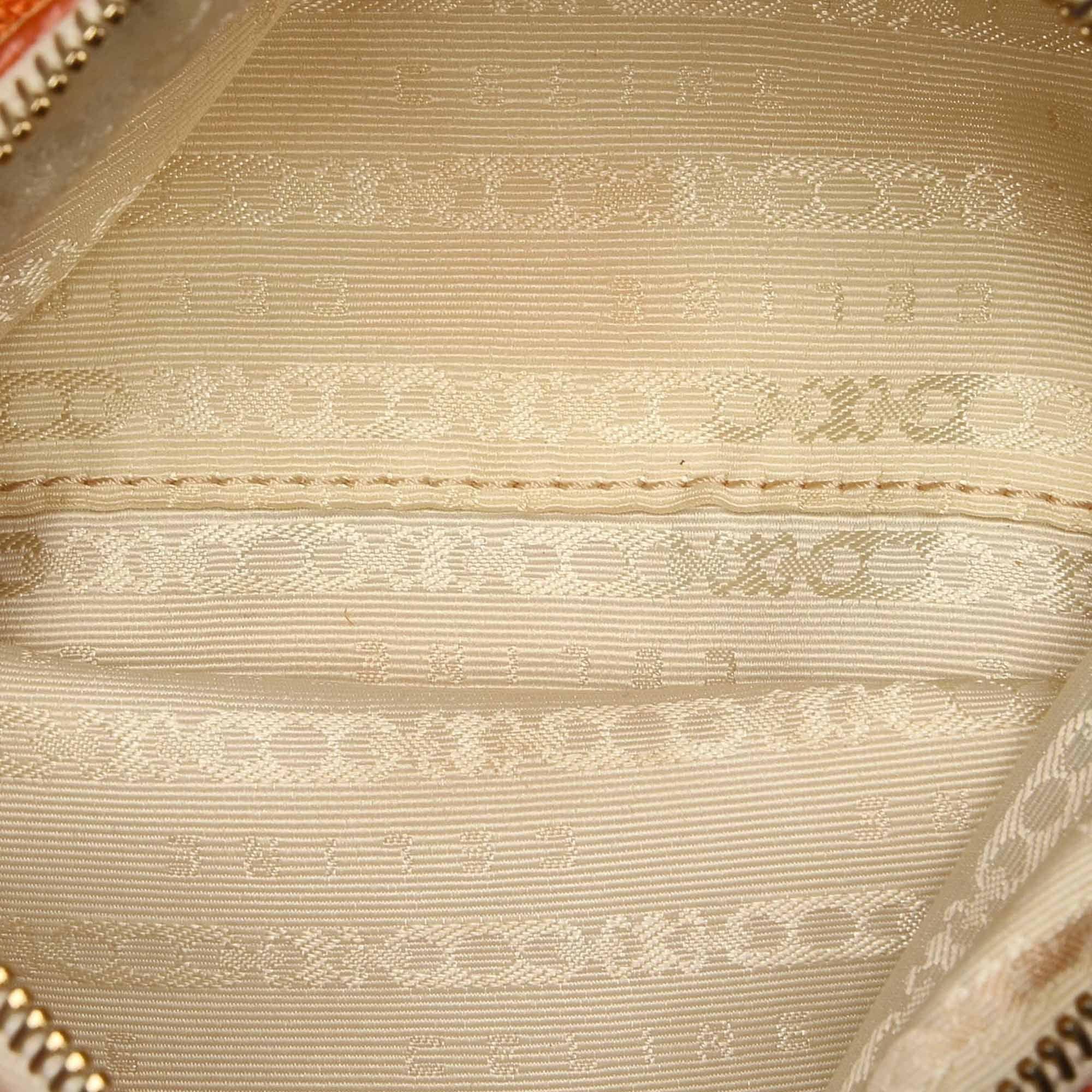 Vintage Celine Canvas Shoulder Bag Orange
