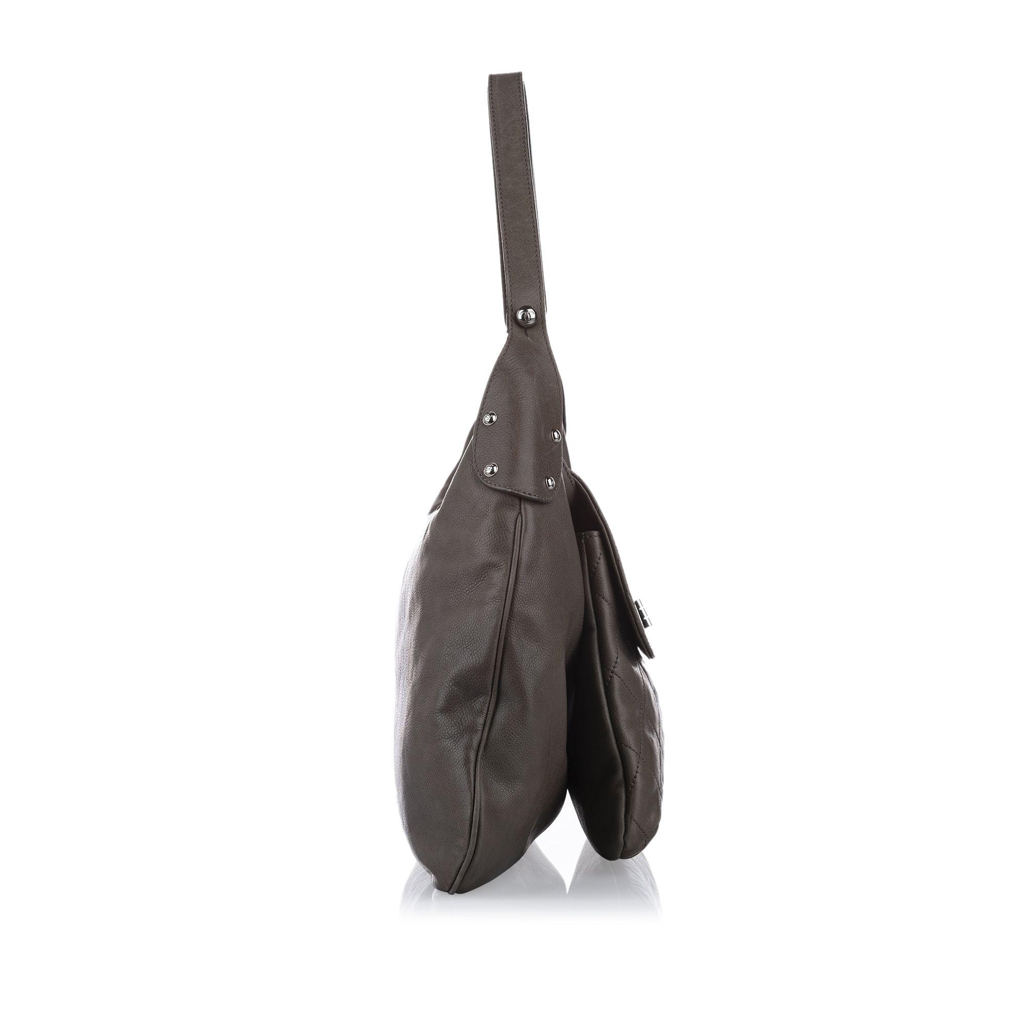Vintage Chanel Matelasse Reissue Lambskin Leather Flap Bag Brown
