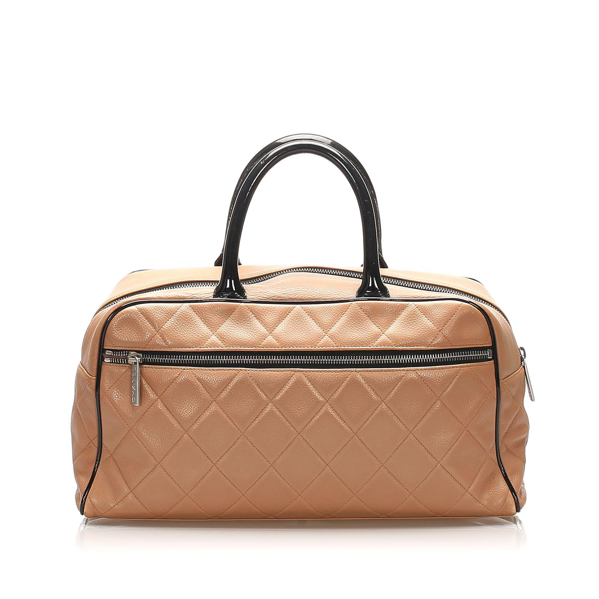 Vintage Chanel Caviar Handbag Brown