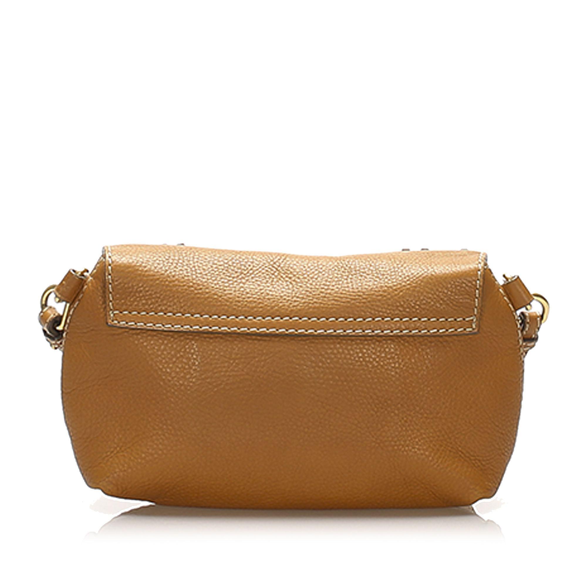 Vintage Chloe Marcie Leather Crossbody Bag Brown