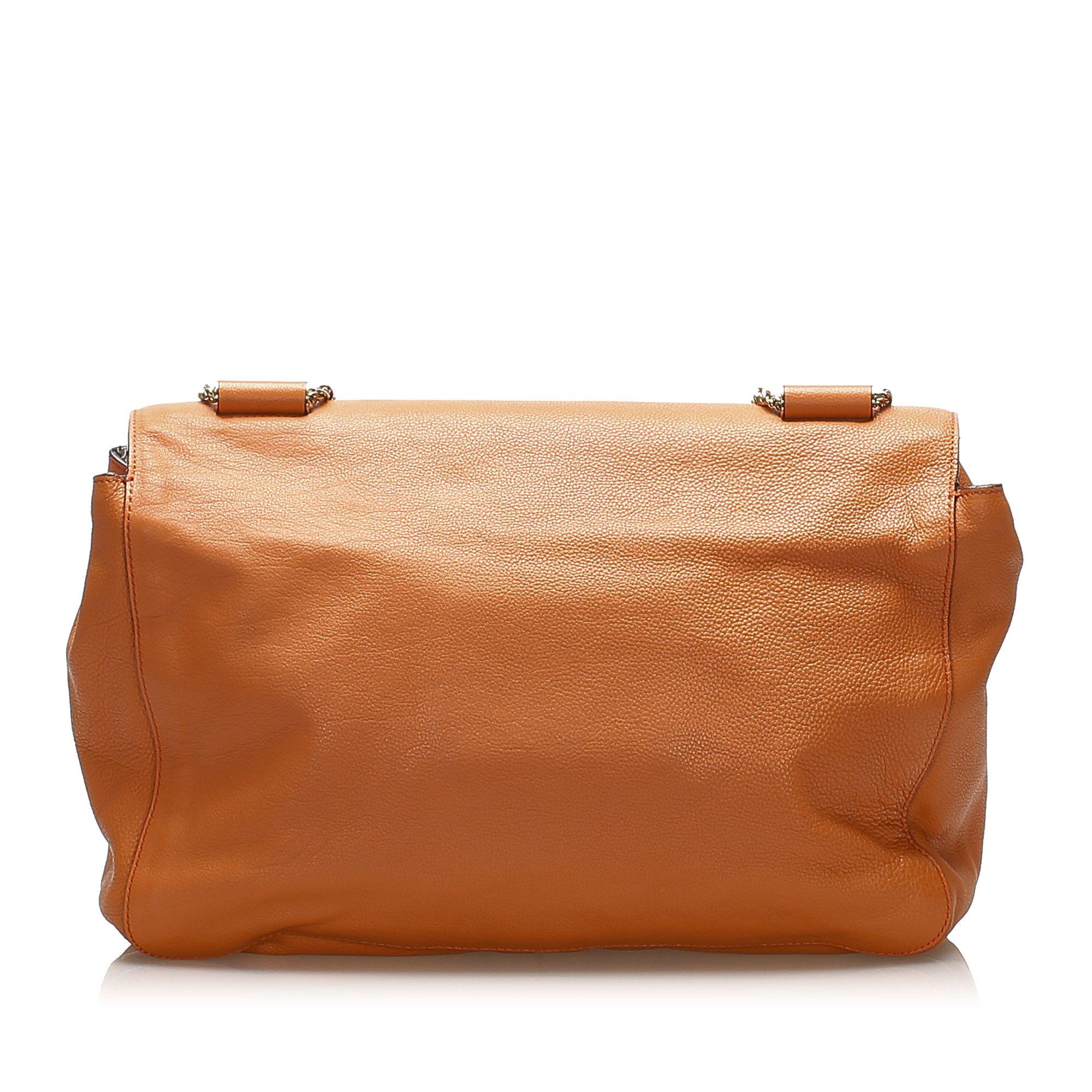 Vintage Chloe Elsie Leather Shoulder Bag Orange