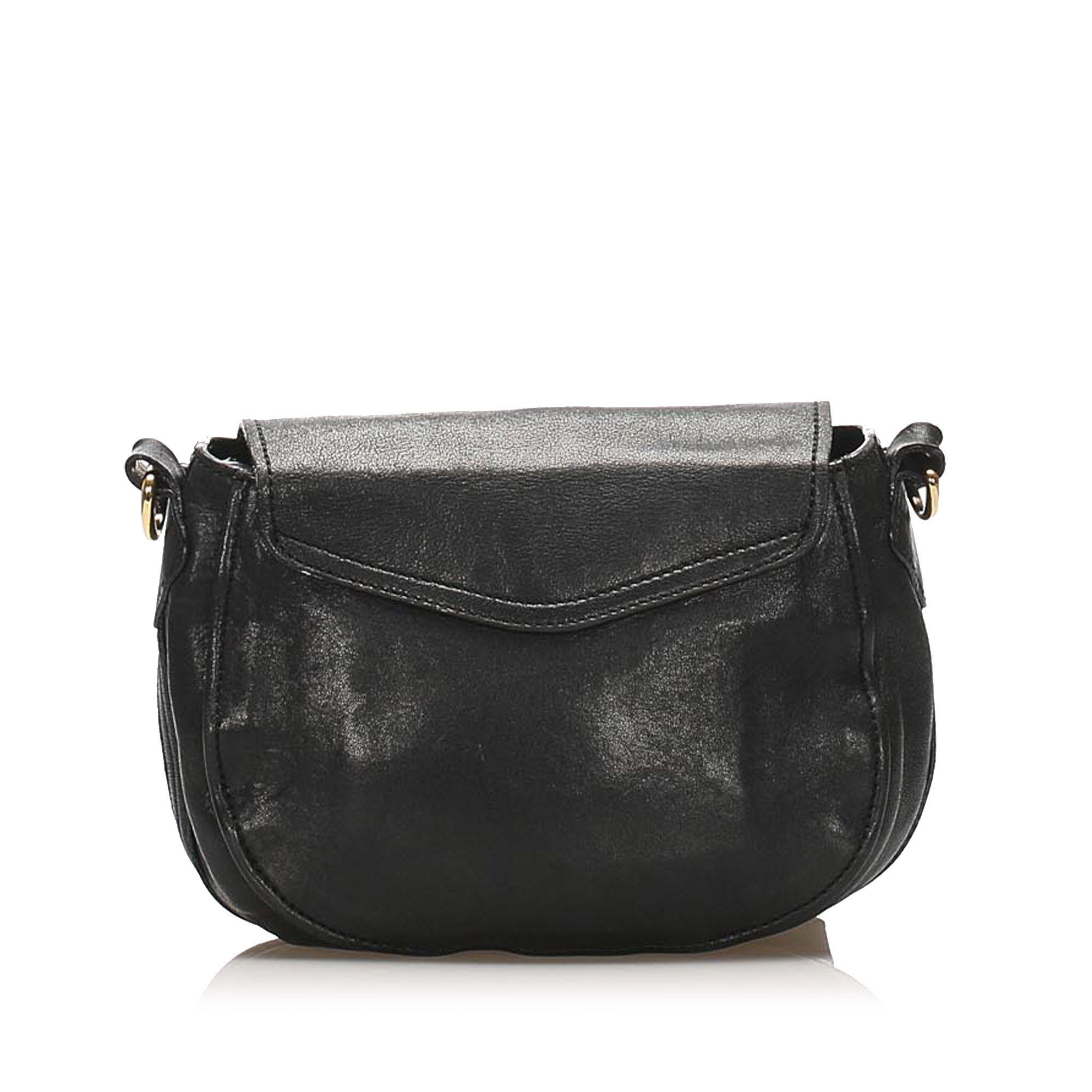Vintage Chloe Elsie Leather Shoulder Bag Black