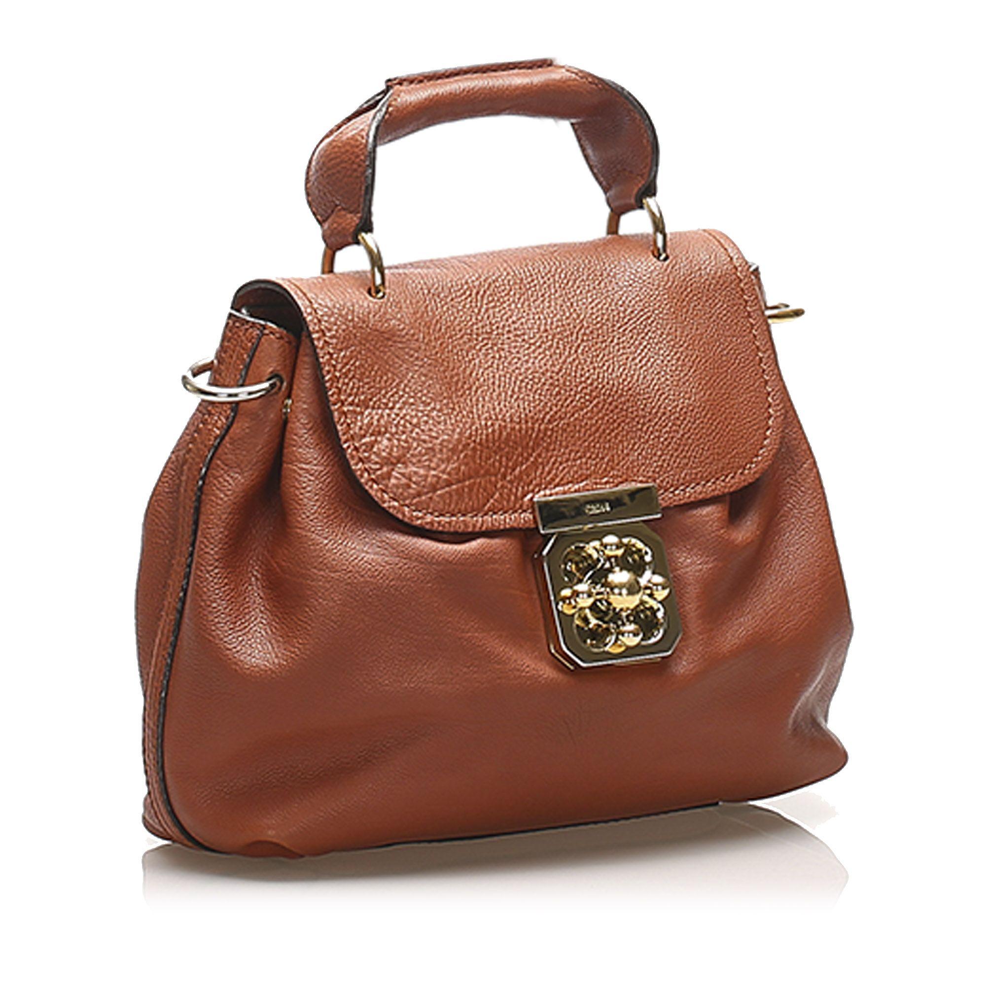 Vintage Chloe Elsie Leather Satchel Brown