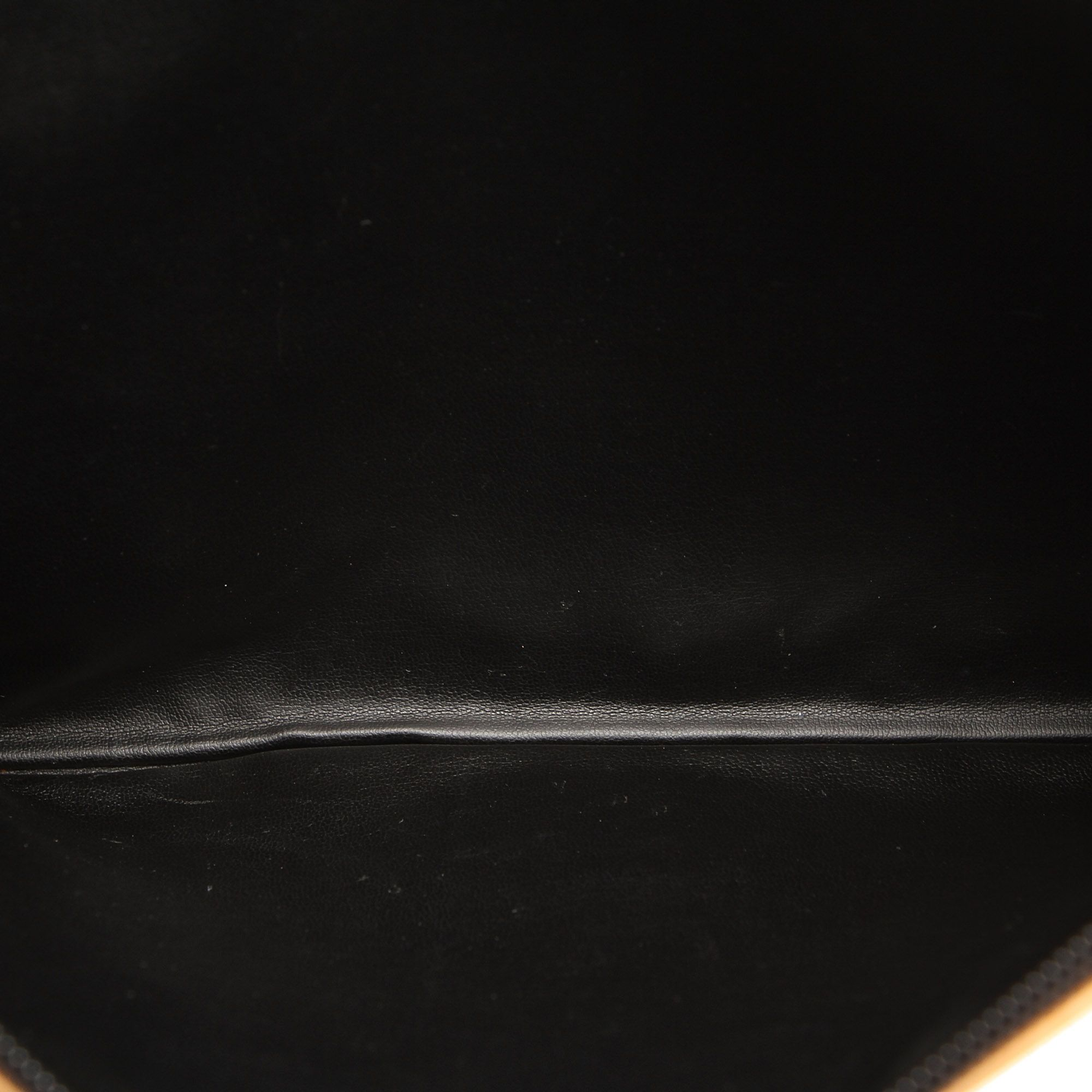 Vintage Fendi Zucca Canvas Clutch Bag Brown