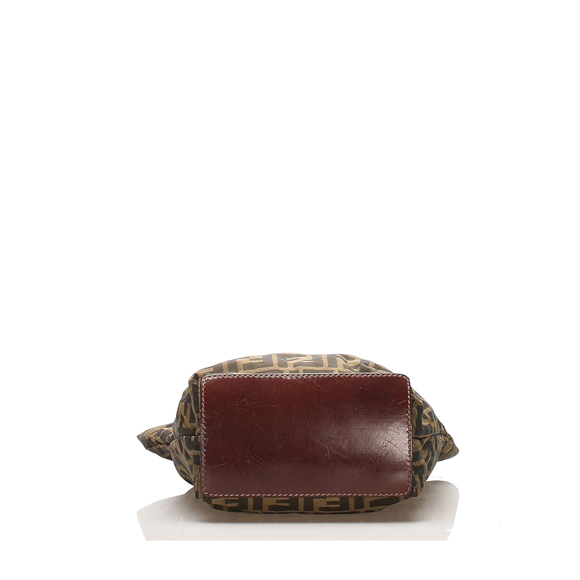 Vintage Fendi Zucca Canvas Tote Bag Brown