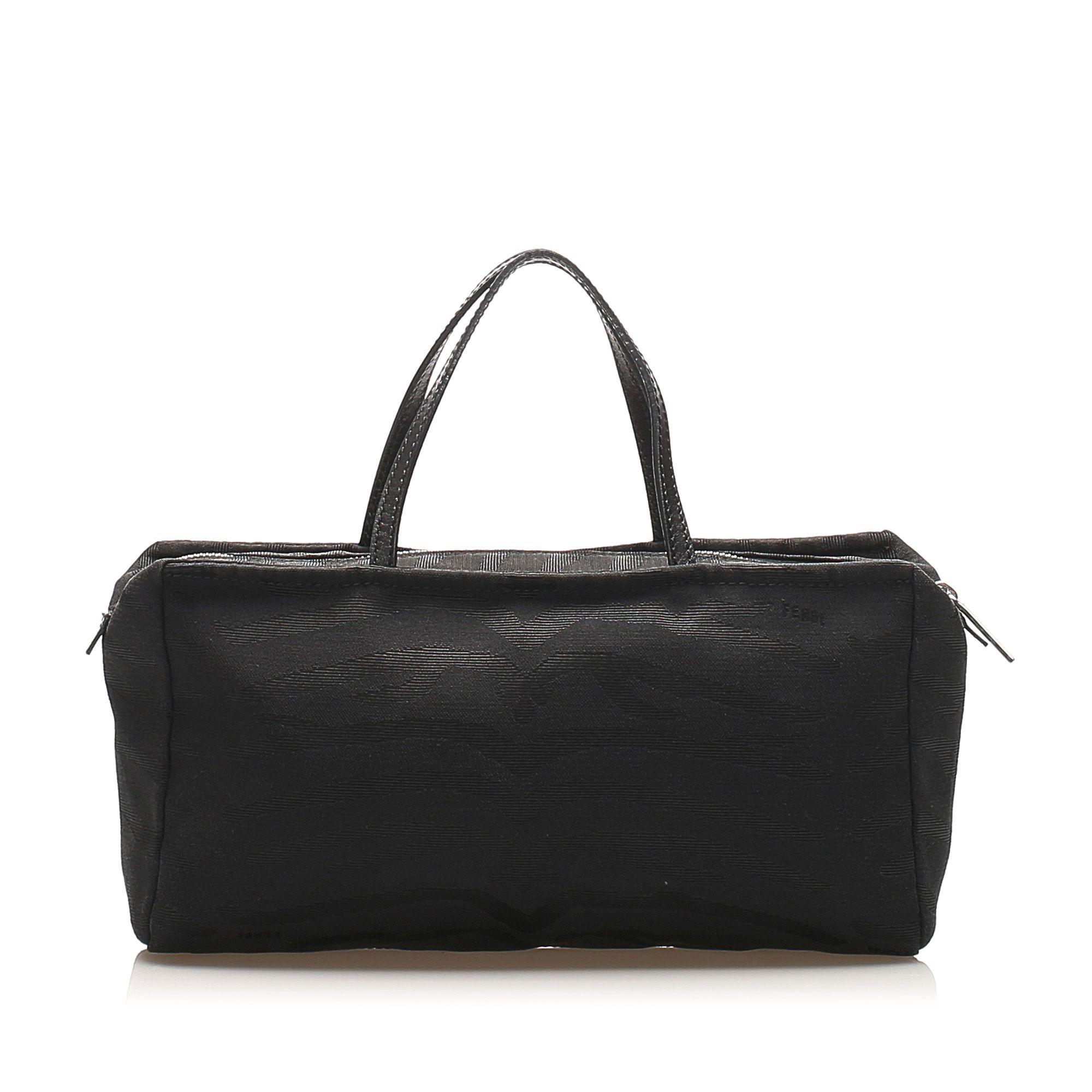 Vintage Fendi Canvas Handbag Black